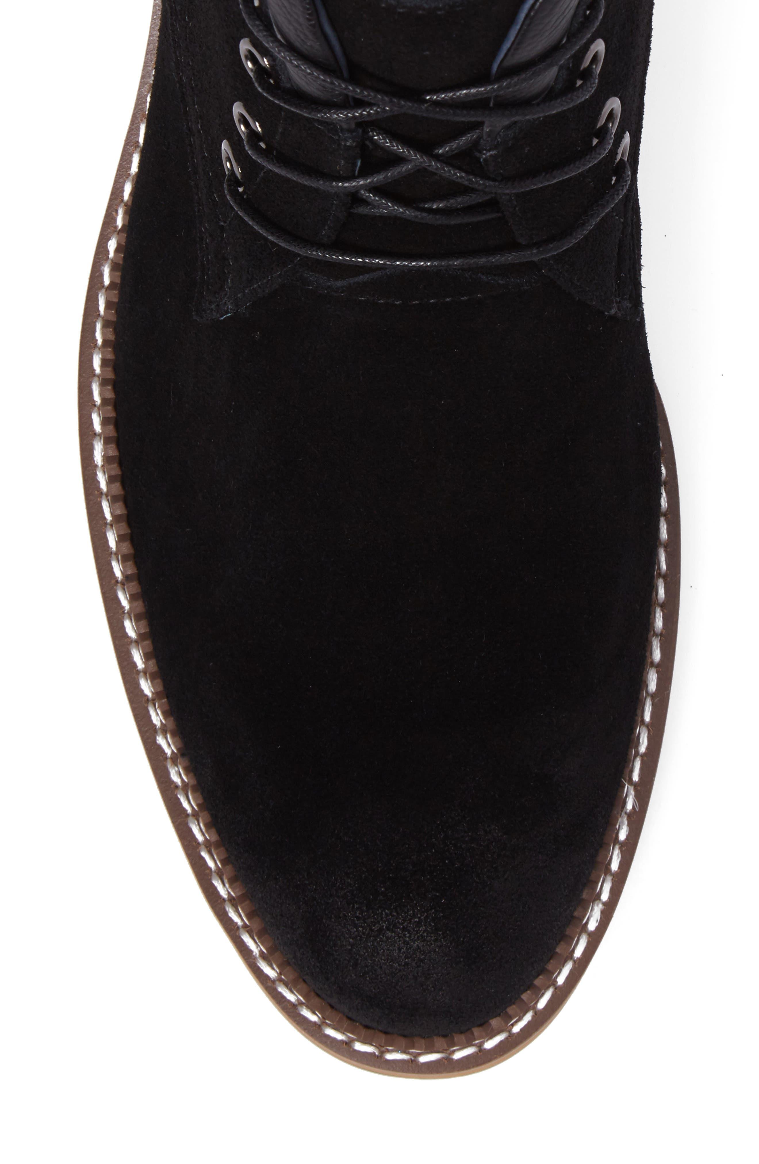 Lazo Chukka Boot,                             Alternate thumbnail 4, color,                             Black Leather
