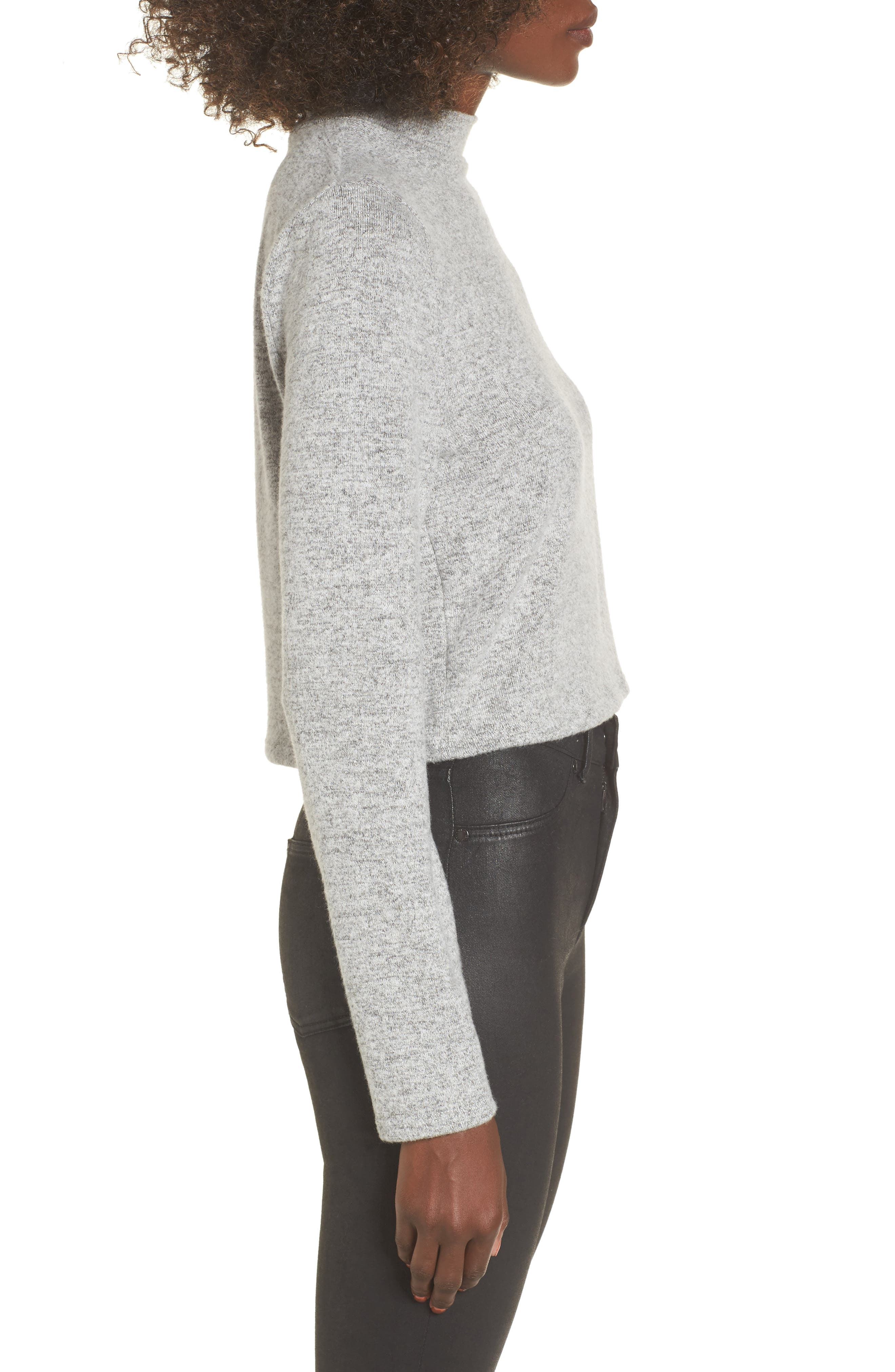 Alternate Image 3  - PST by Project Social T Crop Mock Neck Top