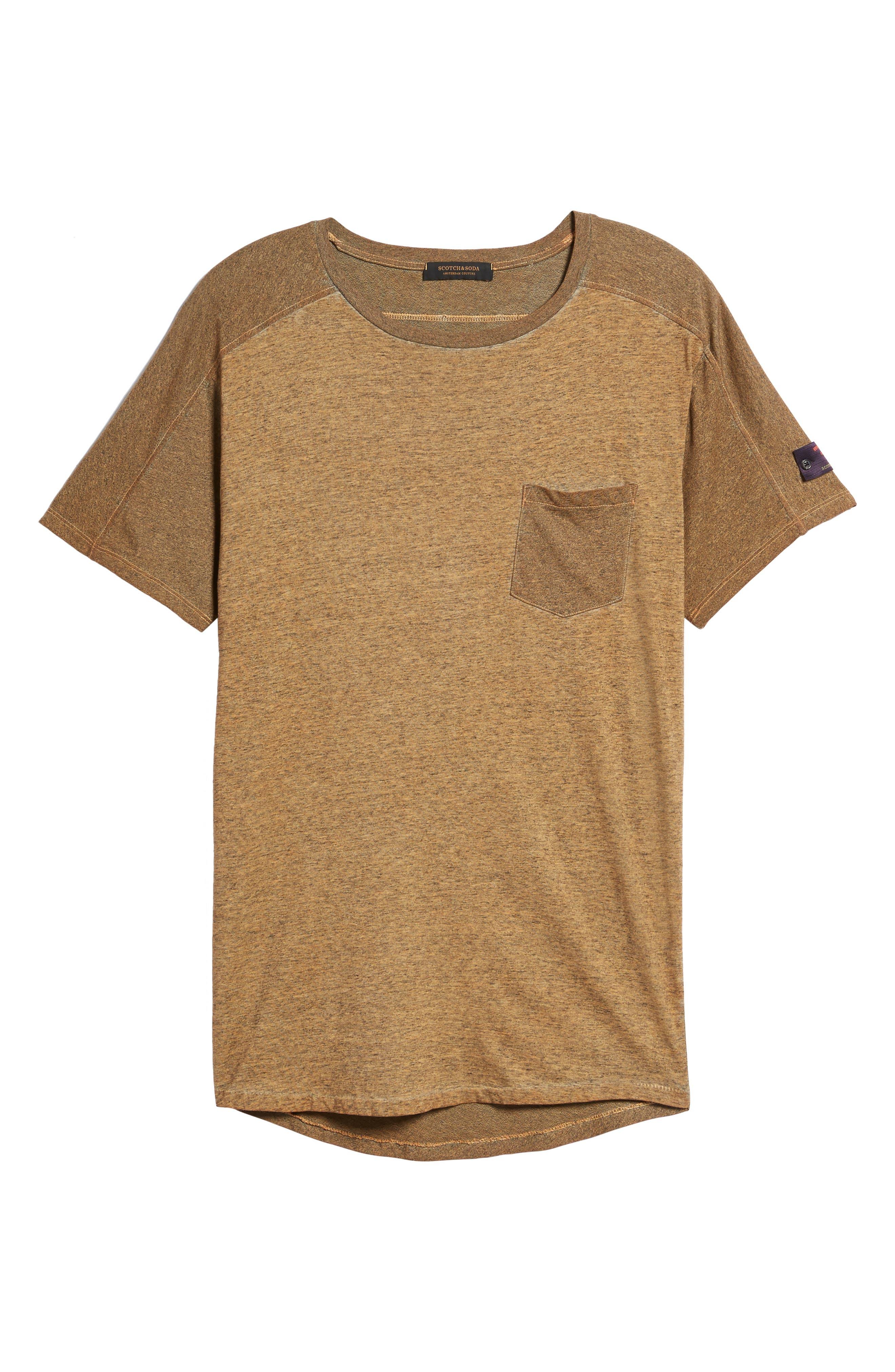 Oil-Washed Pocket T-Shirt,                             Alternate thumbnail 6, color,                             Ginger