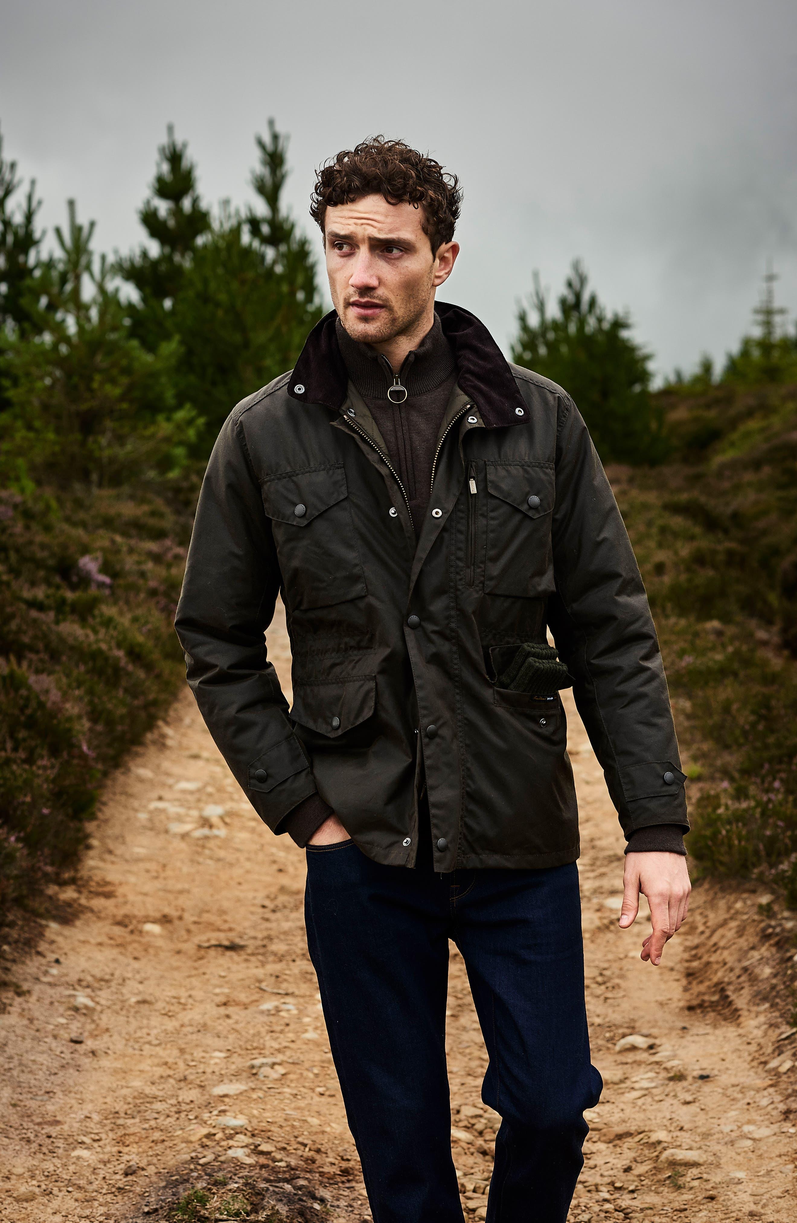Alternate Image 6  - Barbour 'Sapper' Regular Fit Waterproof Waxed Cotton Jacket