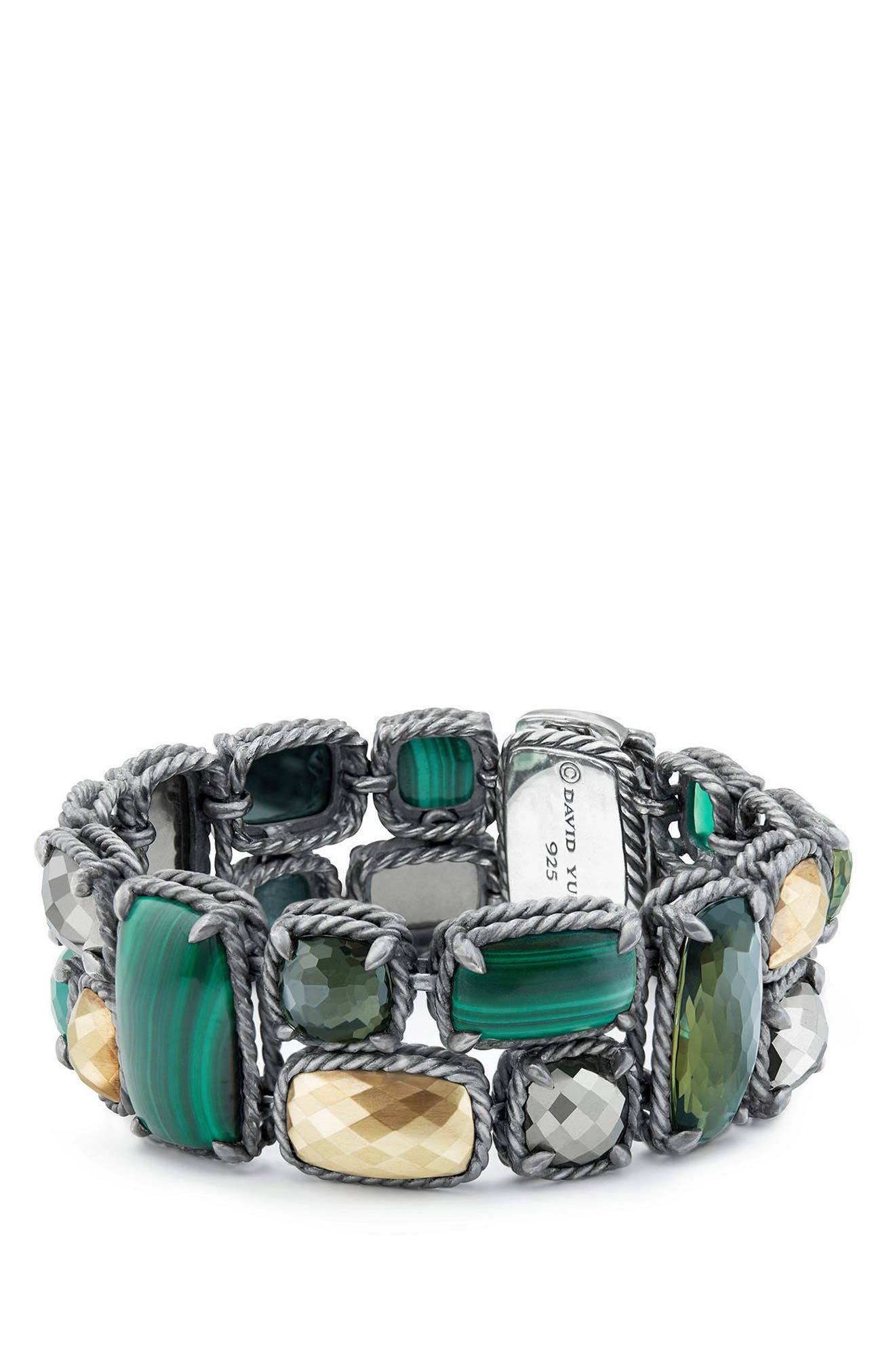 Alternate Image 1 Selected - David Yurman Chatelaine Mosaic Bracelet with 18K Gold