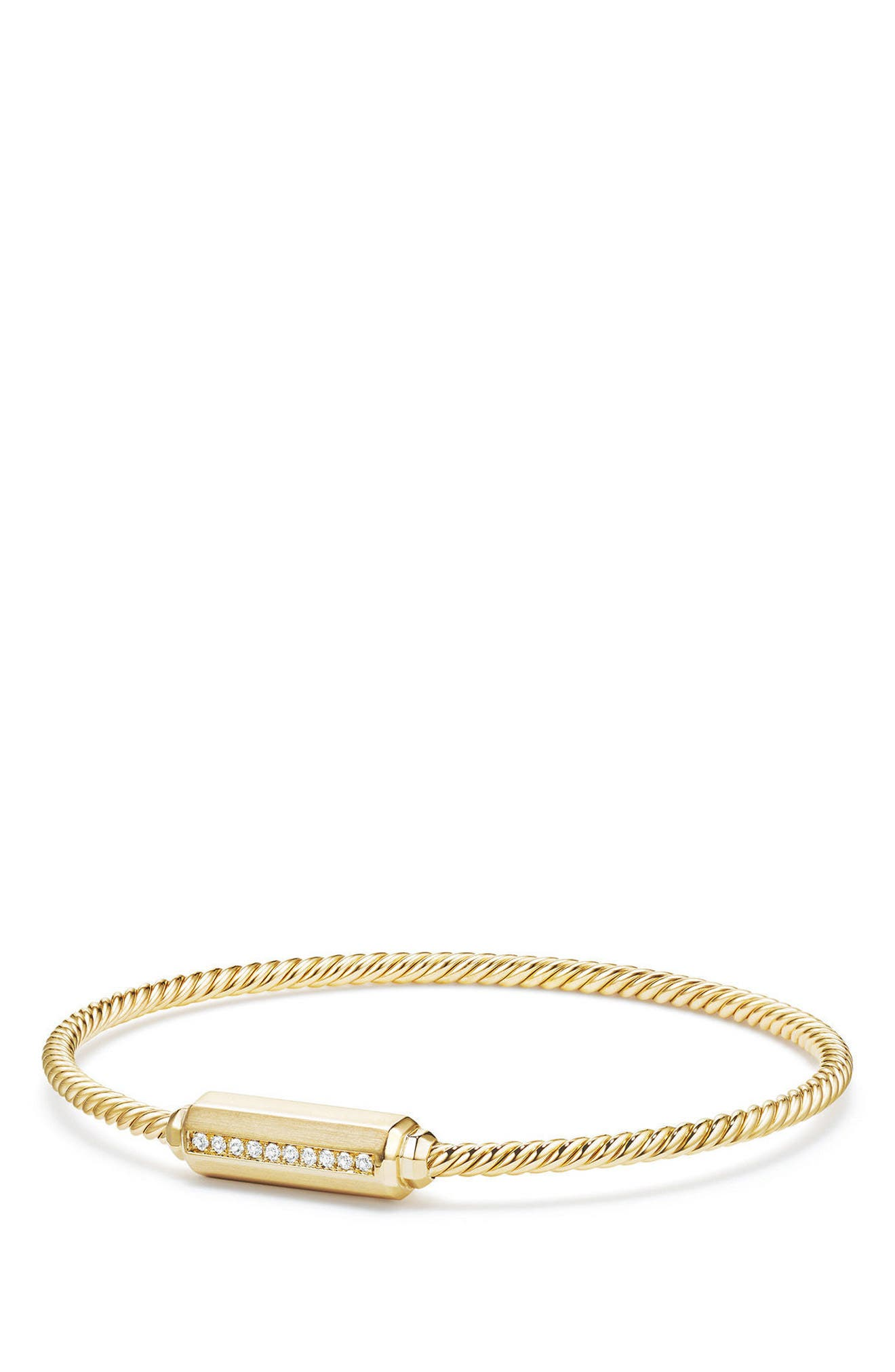 Alternate Image 1 Selected - David Yurman Barrels Bracelet with Diamonds in 18K Gold