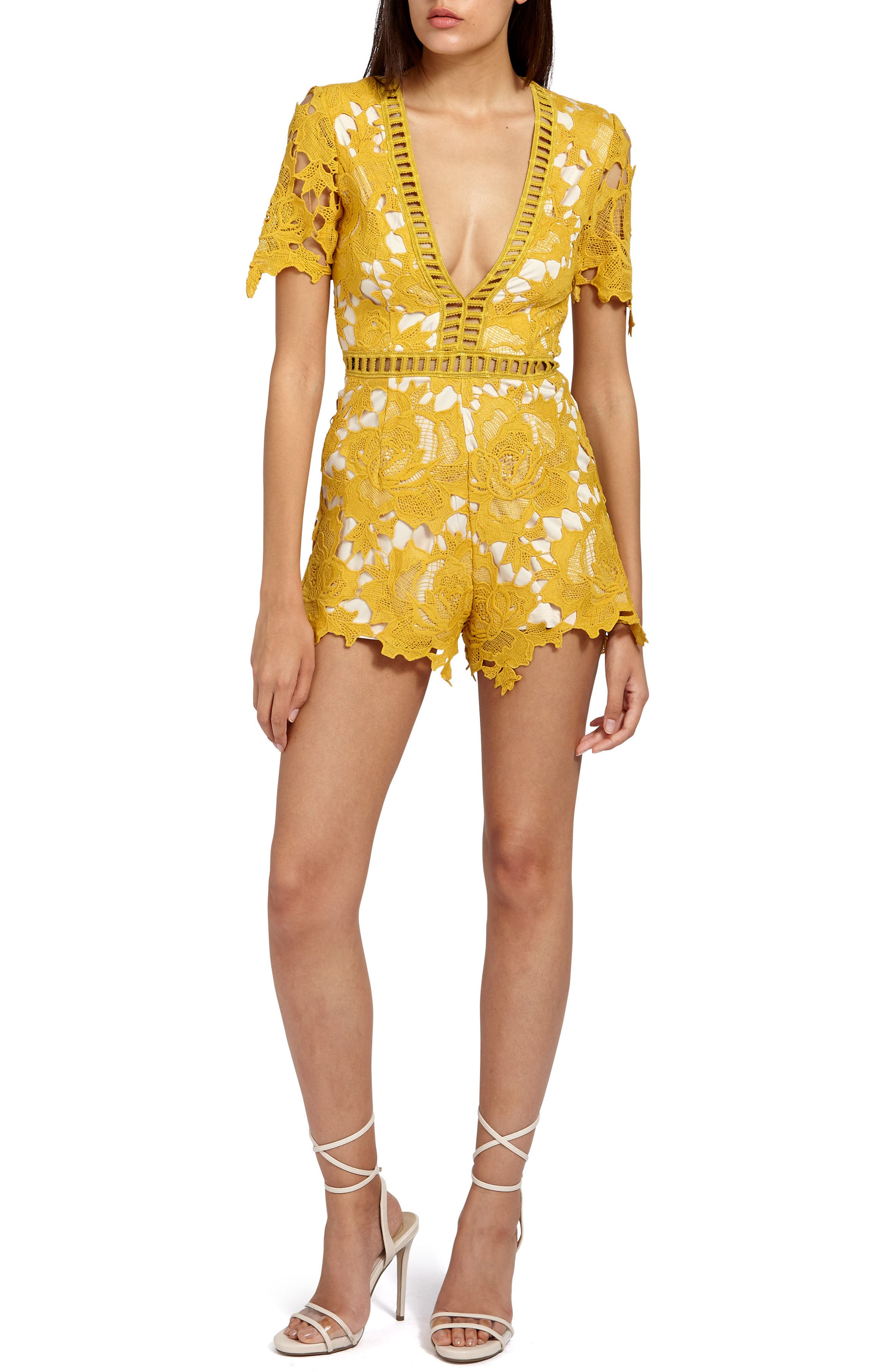 Missguided Ladder Stitch Lace Romper