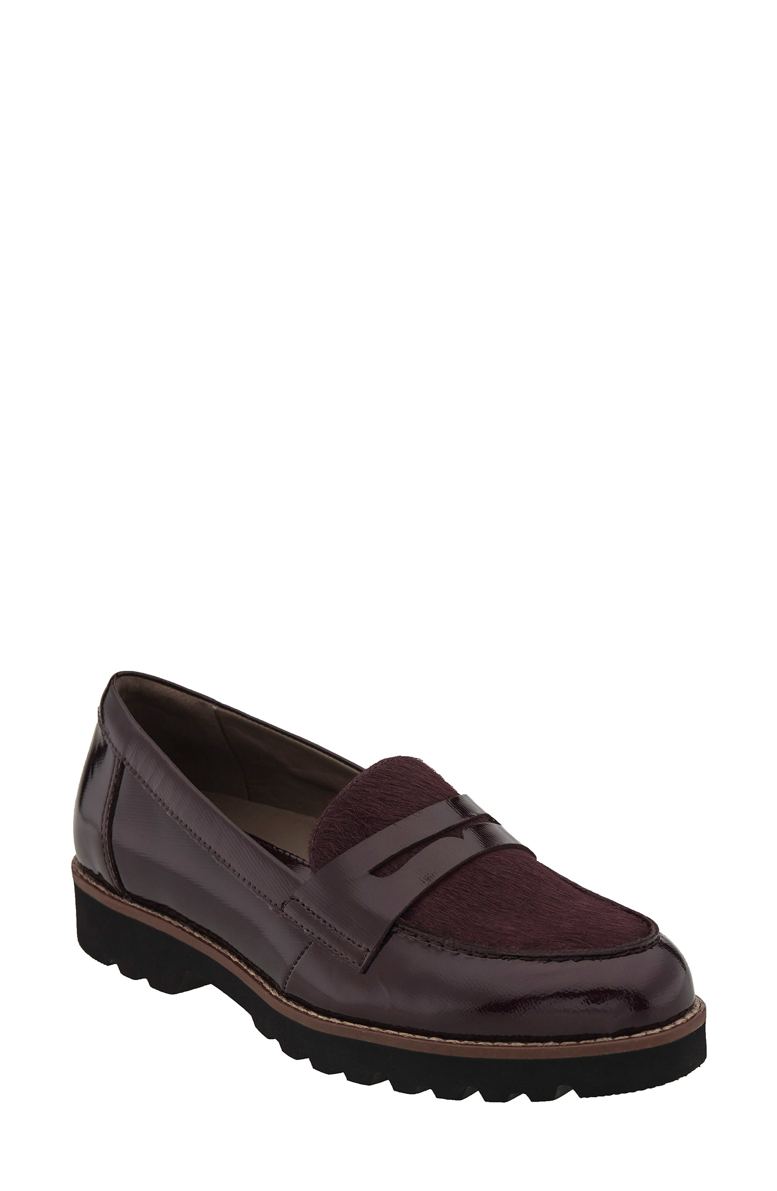 Earthies Braga Leather & Genuine Calf Hair Loafer (Women)