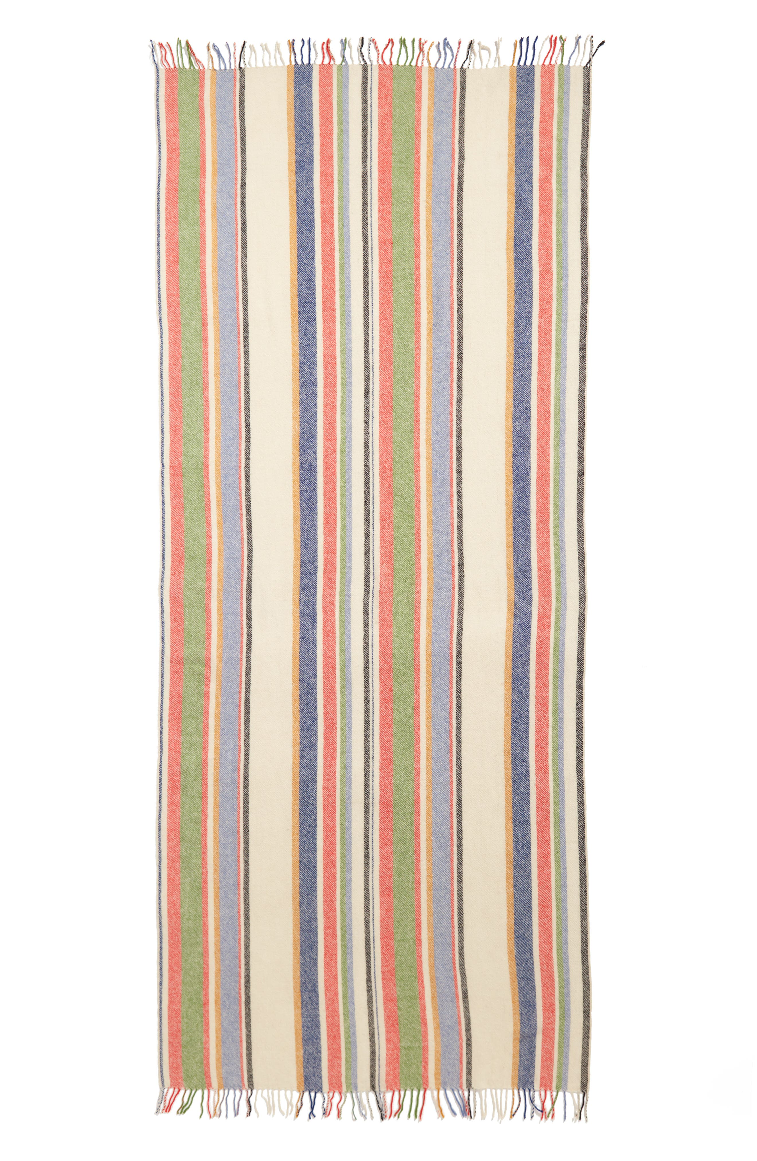 Variance Wool & Cashmere Scarf,                             Alternate thumbnail 2, color,                             Ivory Multi
