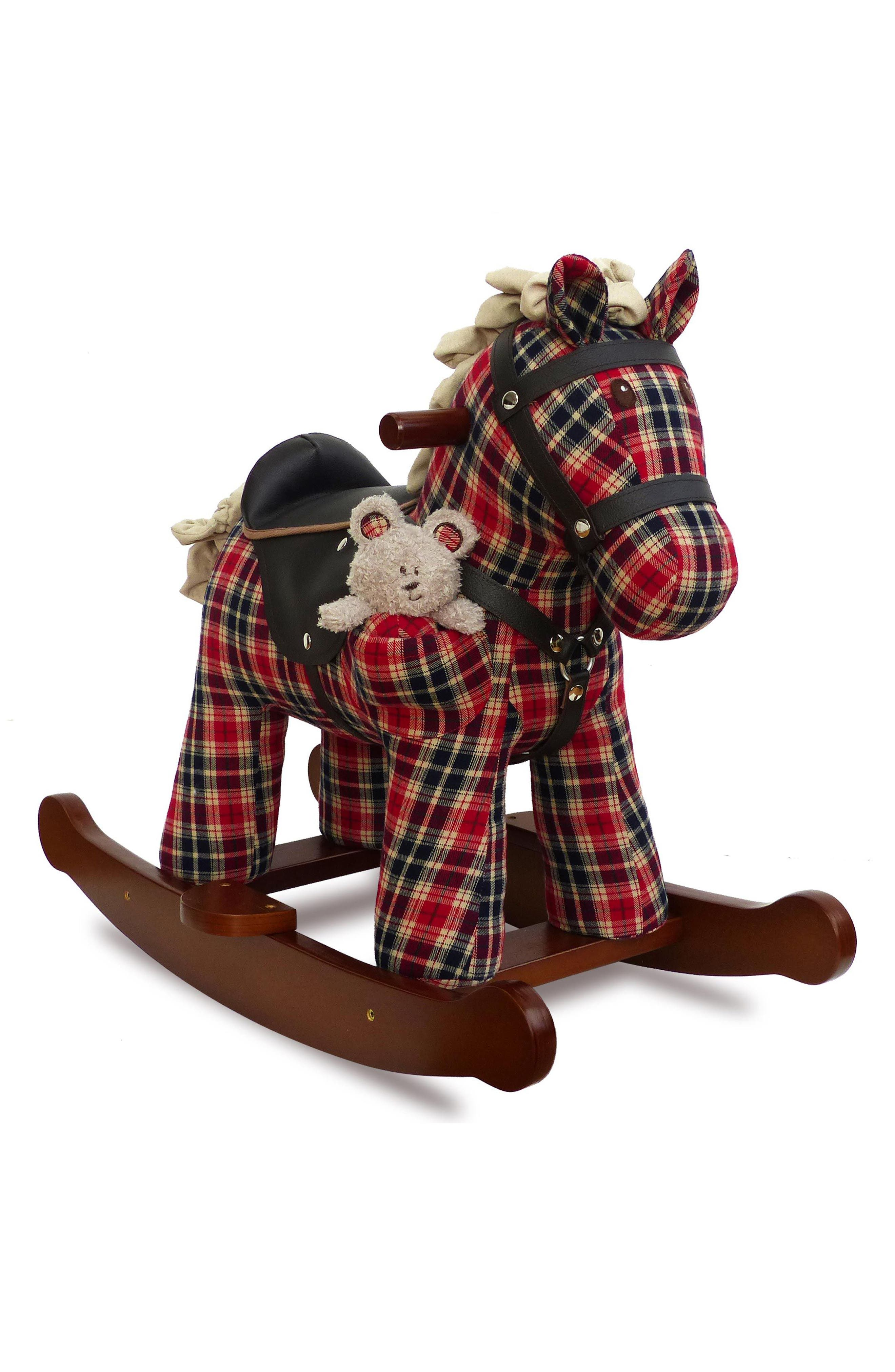 Winston & Red Rocking Horse,                             Main thumbnail 1, color,                             Red