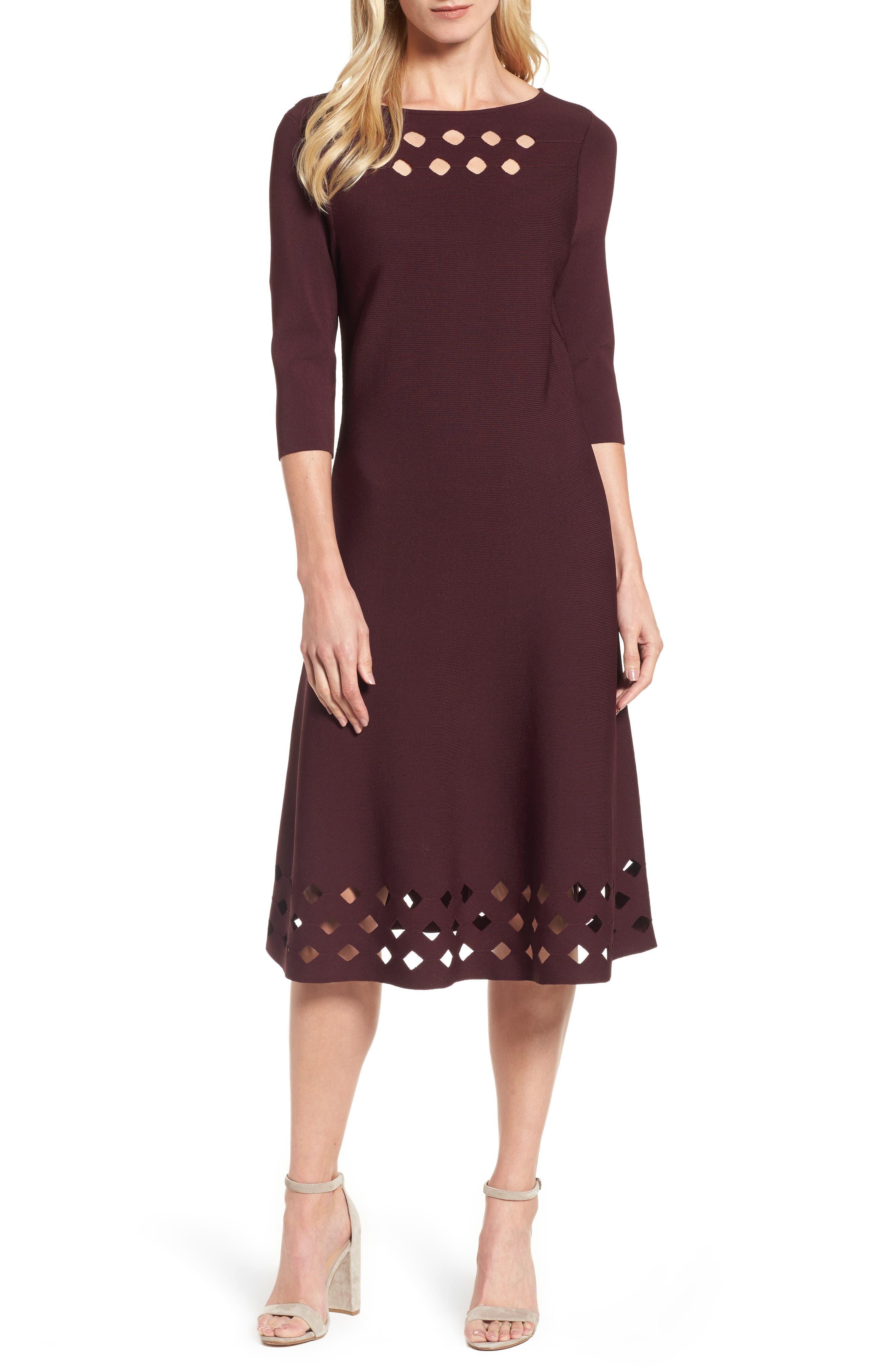 Alternate Image 1 Selected - NIC+ZOE Time Out Twirl Midi Dress (Regular & Petite)