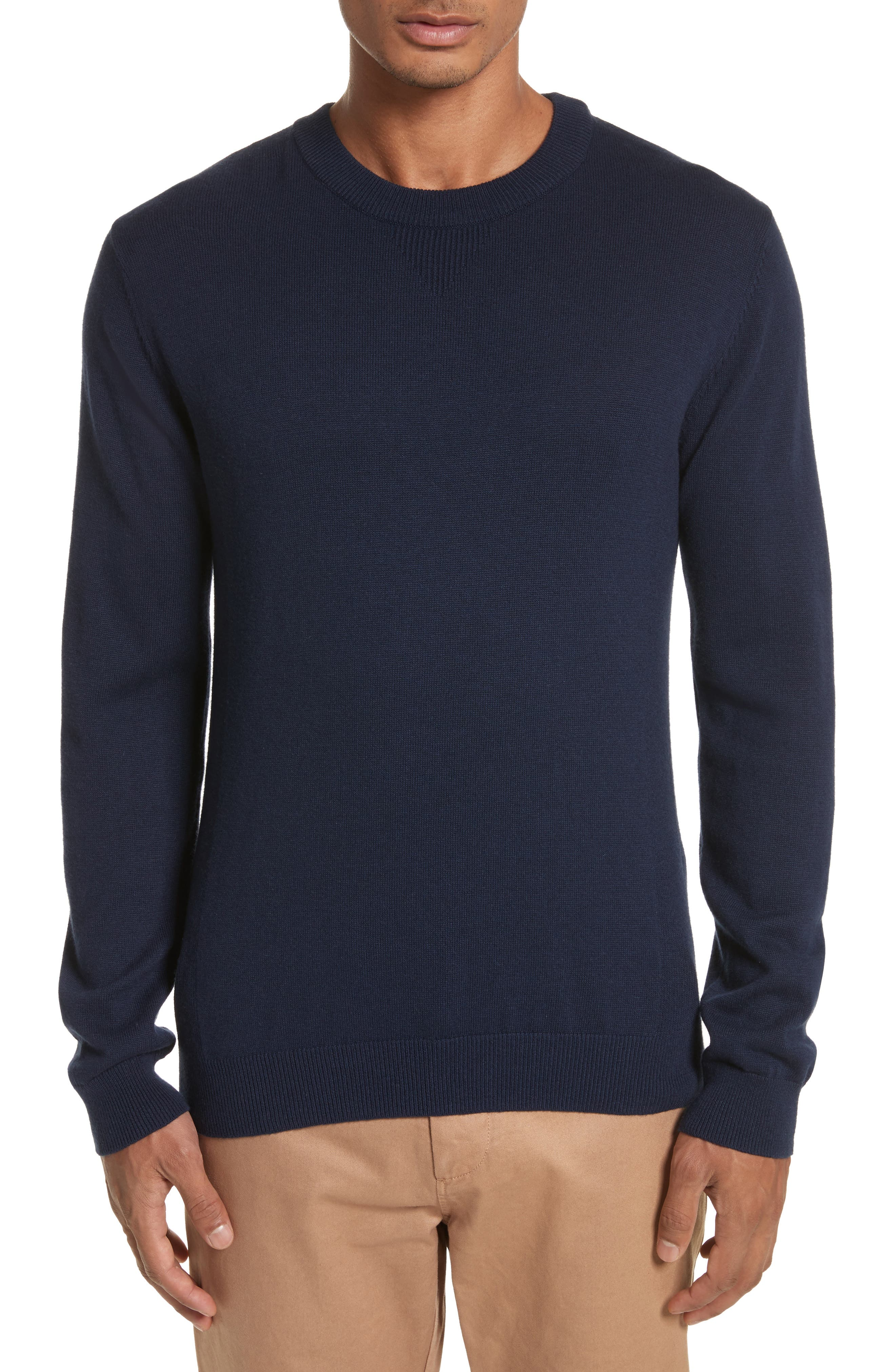 Everyday Classic Crewneck Sweater,                         Main,                         color, Midnight