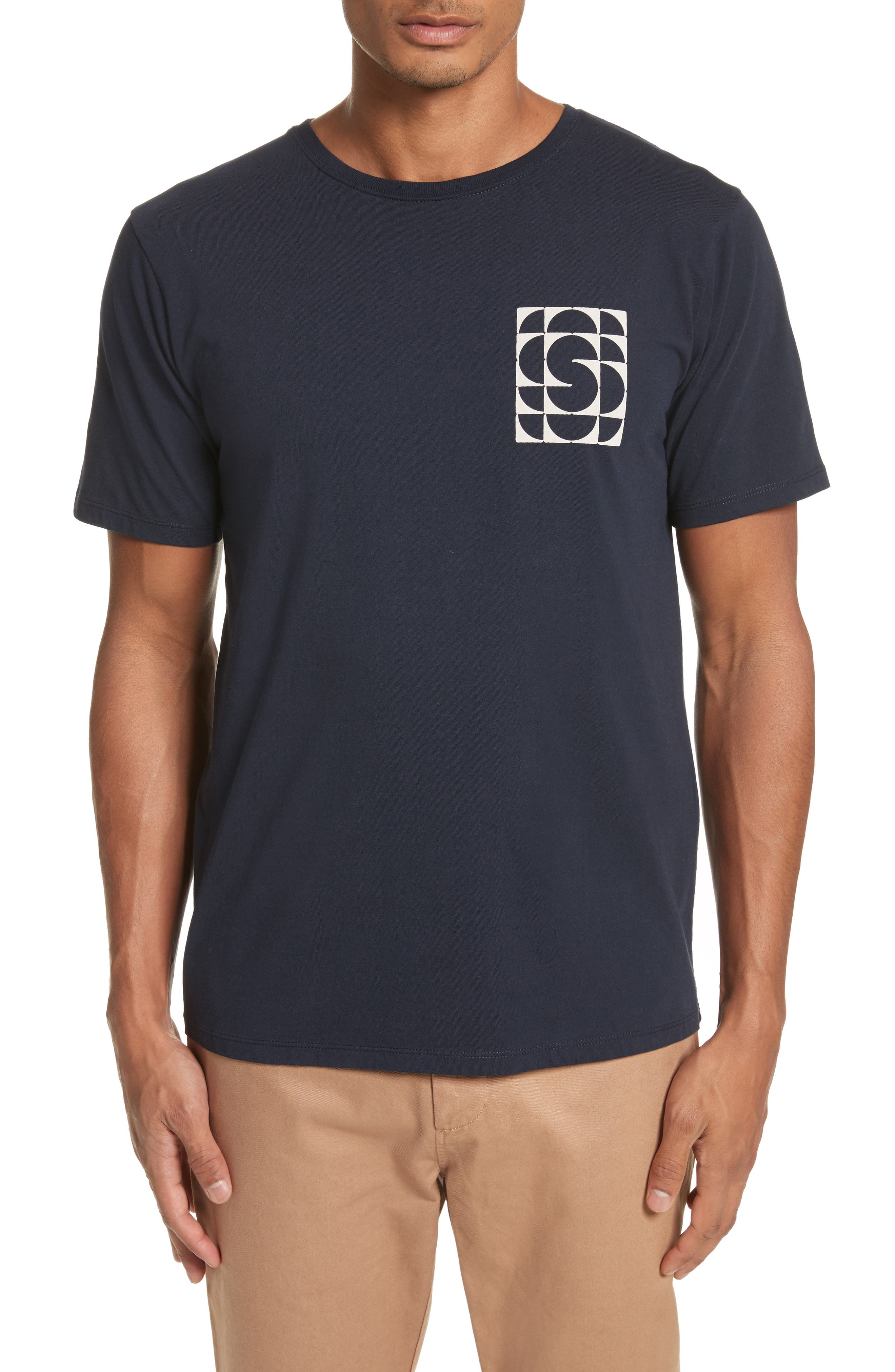 Kaleidoscope Graphic T-Shirt,                             Main thumbnail 1, color,                             Midnight