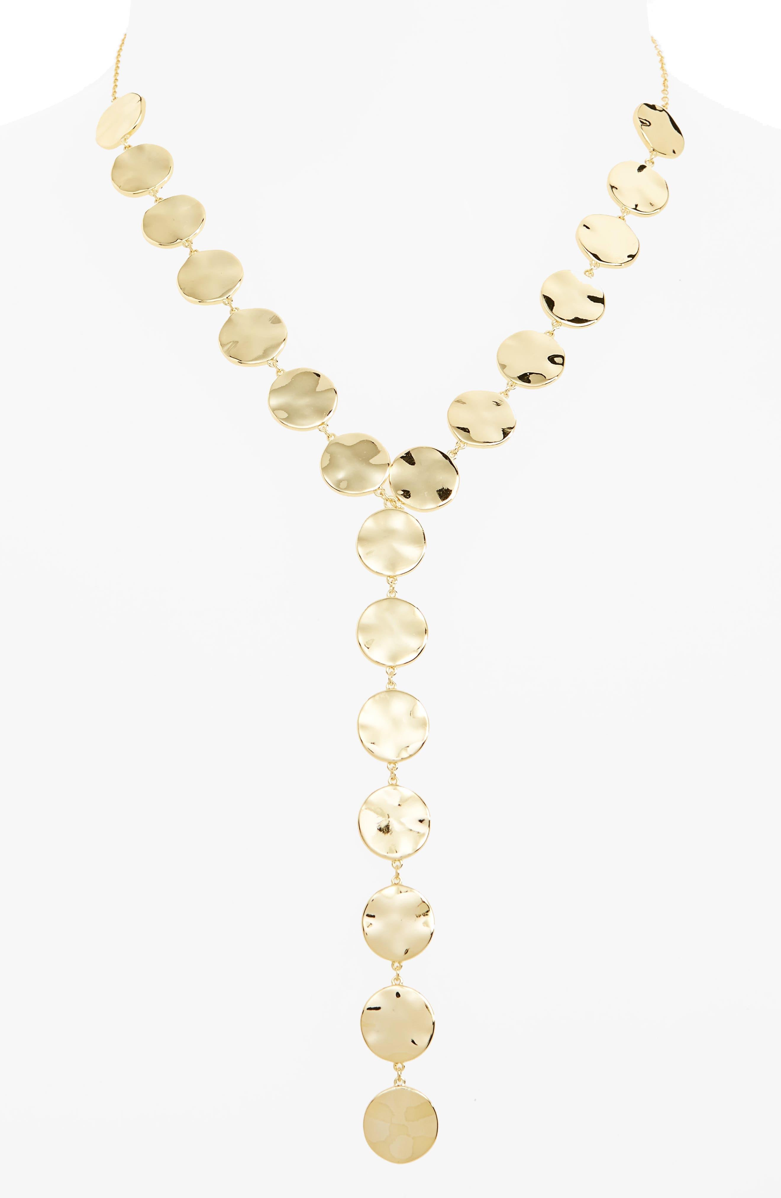 Chloe Y-Necklace,                         Main,                         color, Gold
