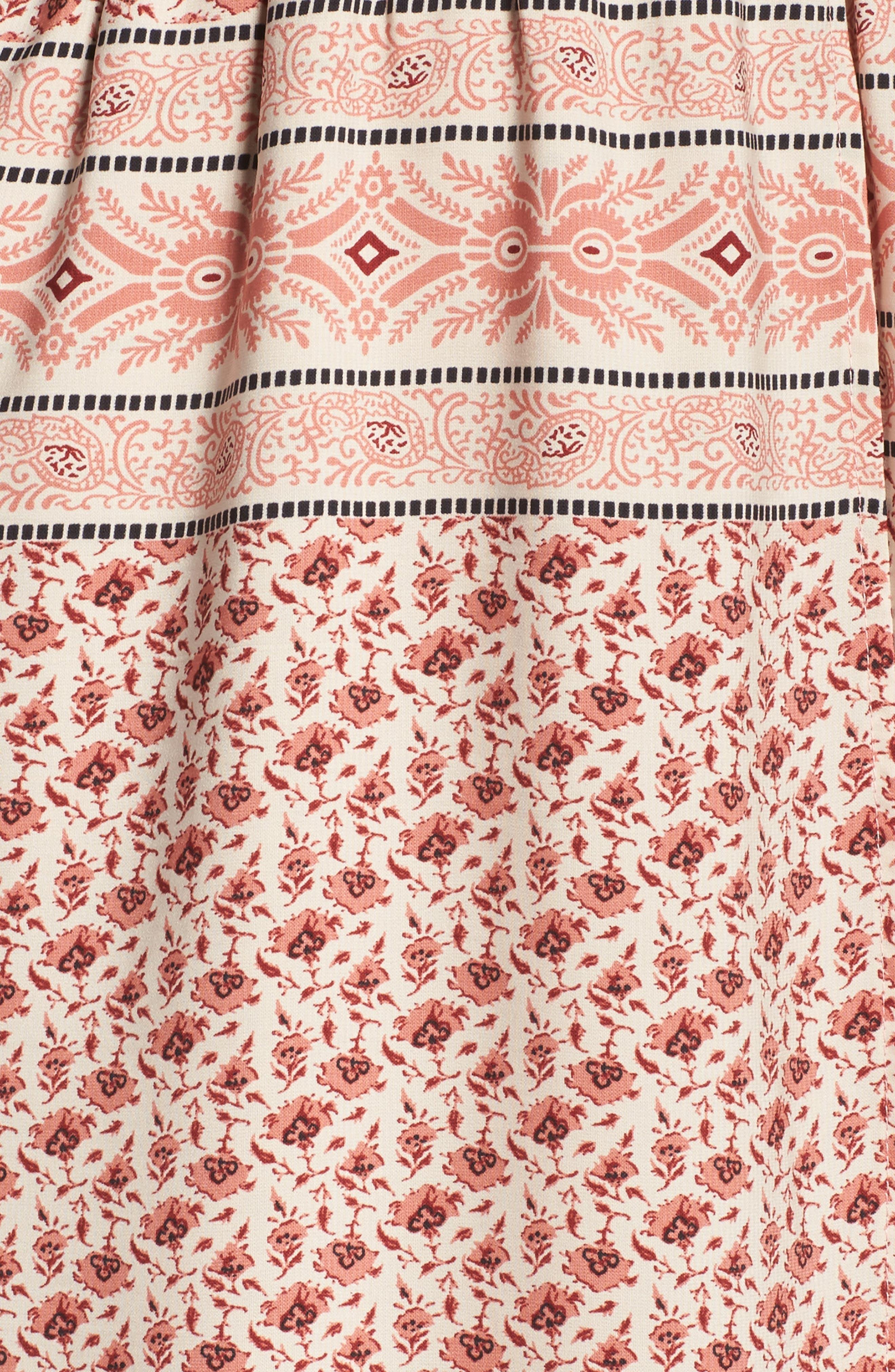 Cold Shoulder Midi Dress,                             Alternate thumbnail 5, color,                             Madison