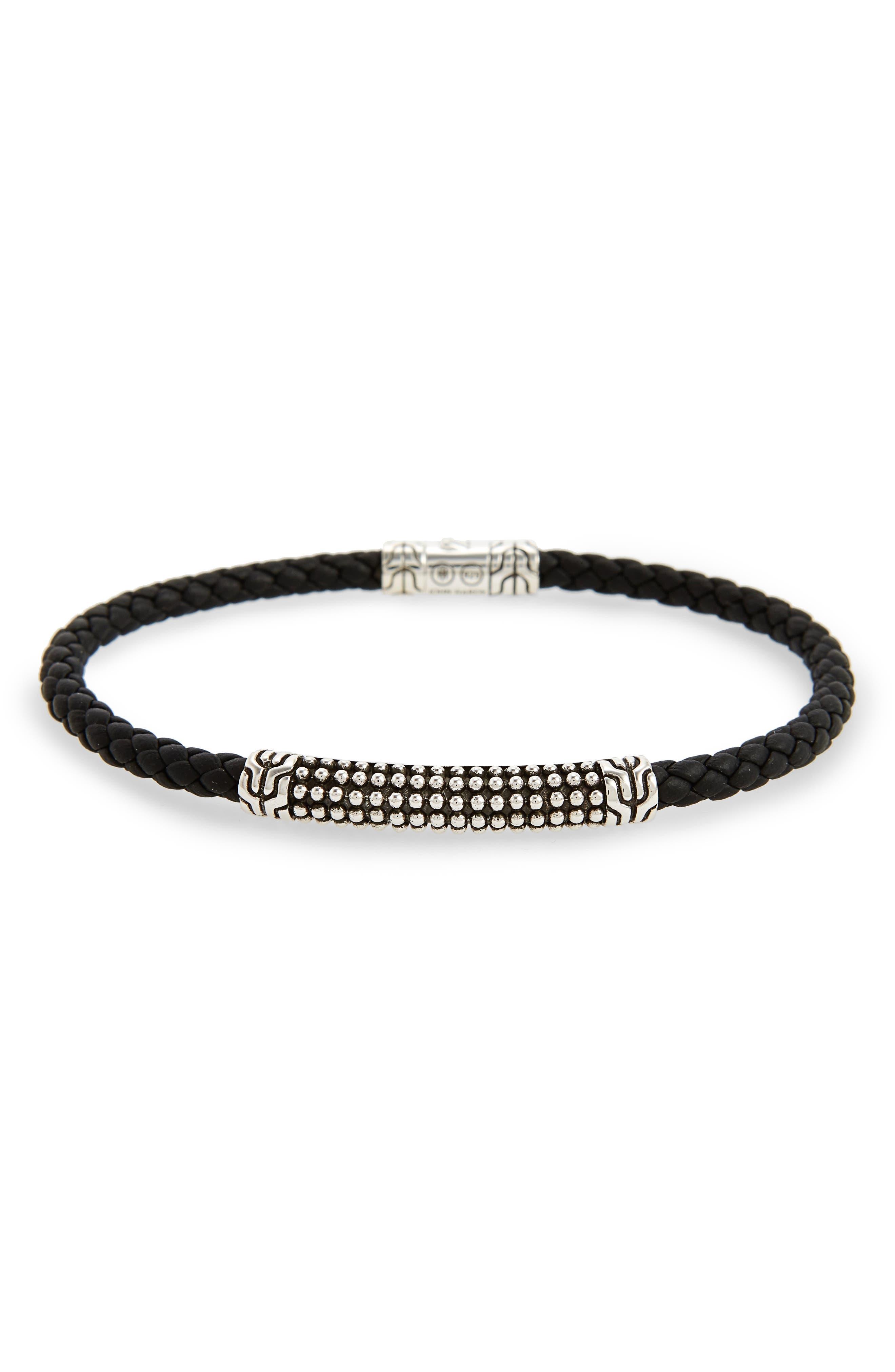 Classic Chain Bracelet,                             Main thumbnail 1, color,                             Black