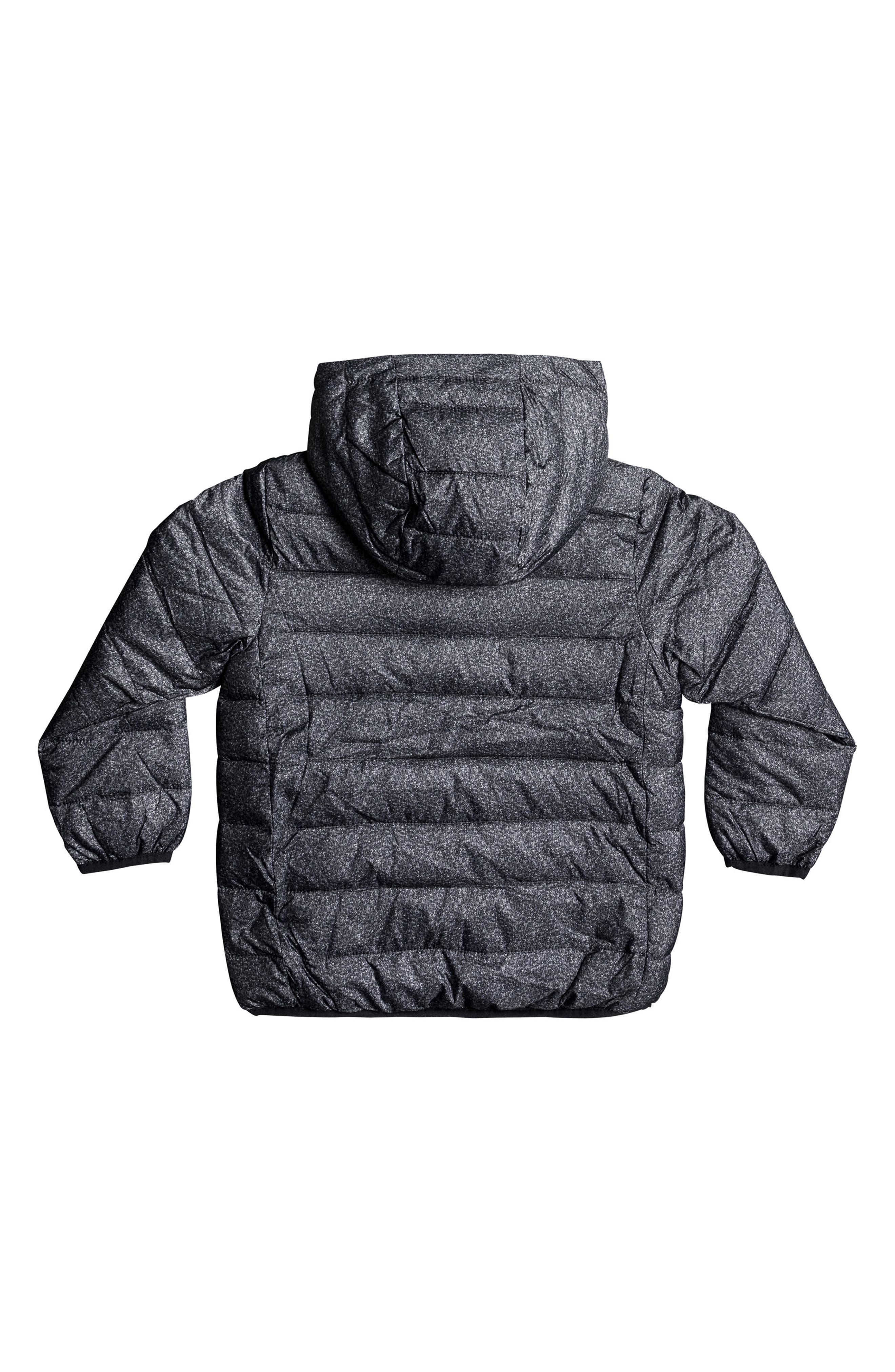Quicksilver Scaly Water-Resistant Hooded Puffer Jacket,                             Alternate thumbnail 2, color,                             Dark Grey Scaly