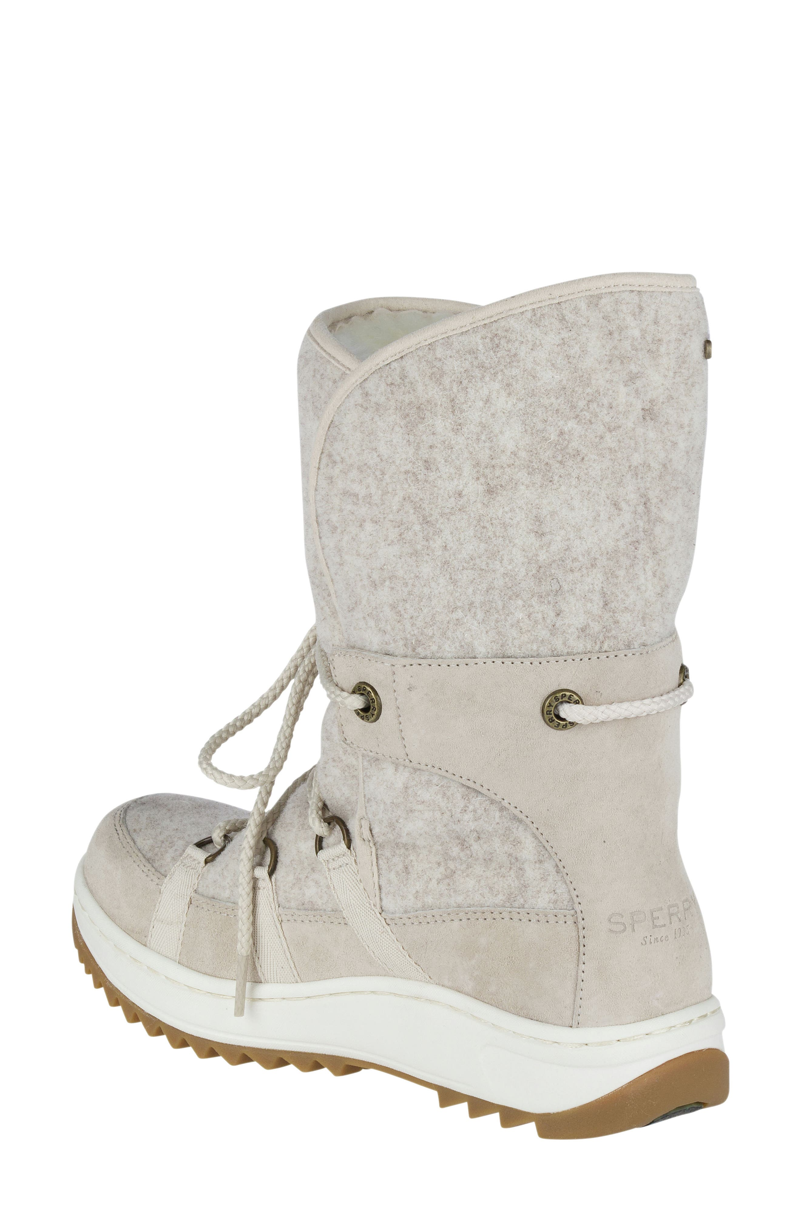Powder Ice Cap Thinsulate Insulated Water Resistant Boot,                             Alternate thumbnail 2, color,                             Ivory Suede
