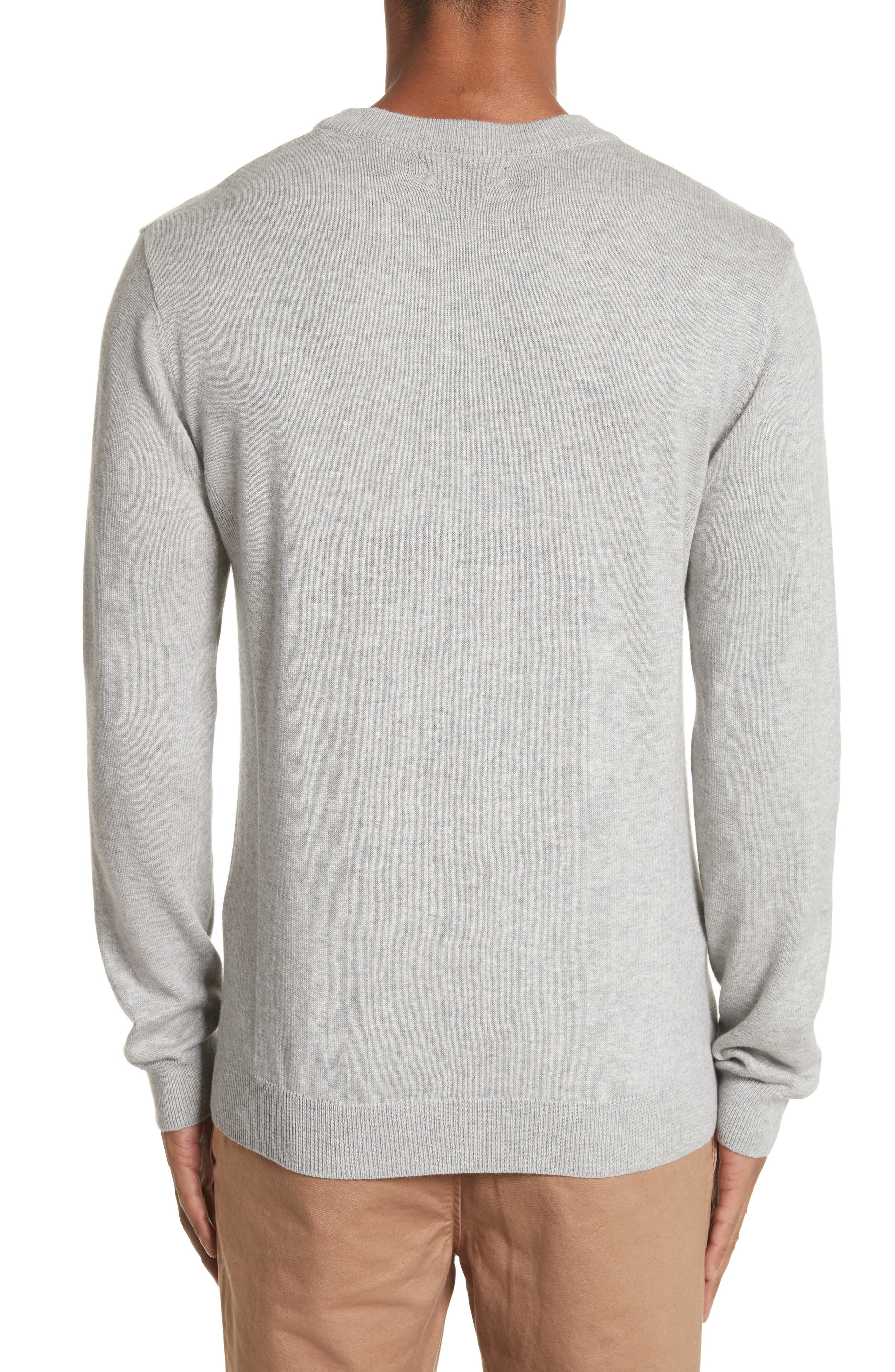 Merino Wool & Cashmere Pullover,                             Alternate thumbnail 2, color,                             Ash Heather