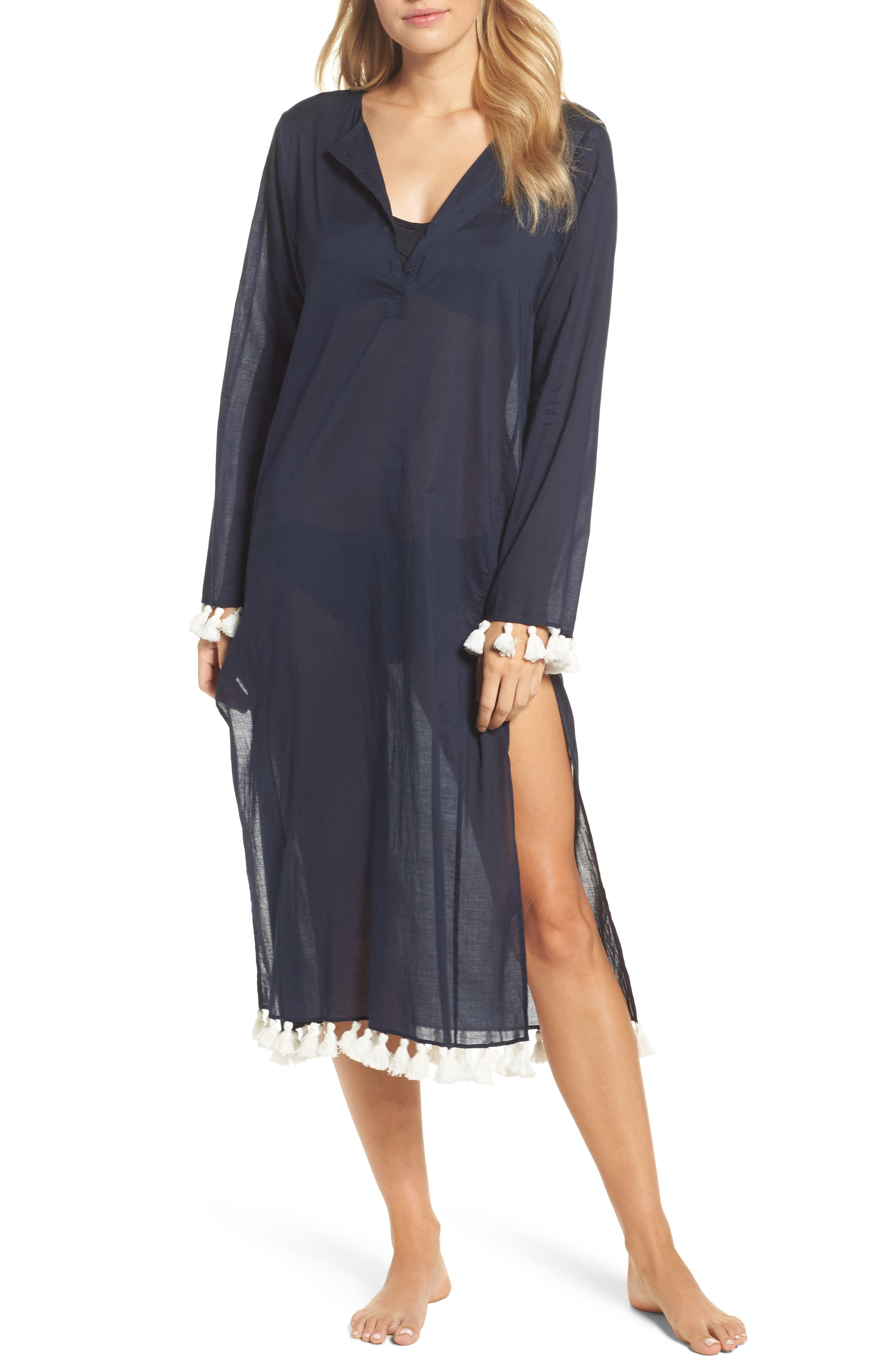 Sandy Cover-Up Tunic,                             Main thumbnail 1, color,                             Tory Navy