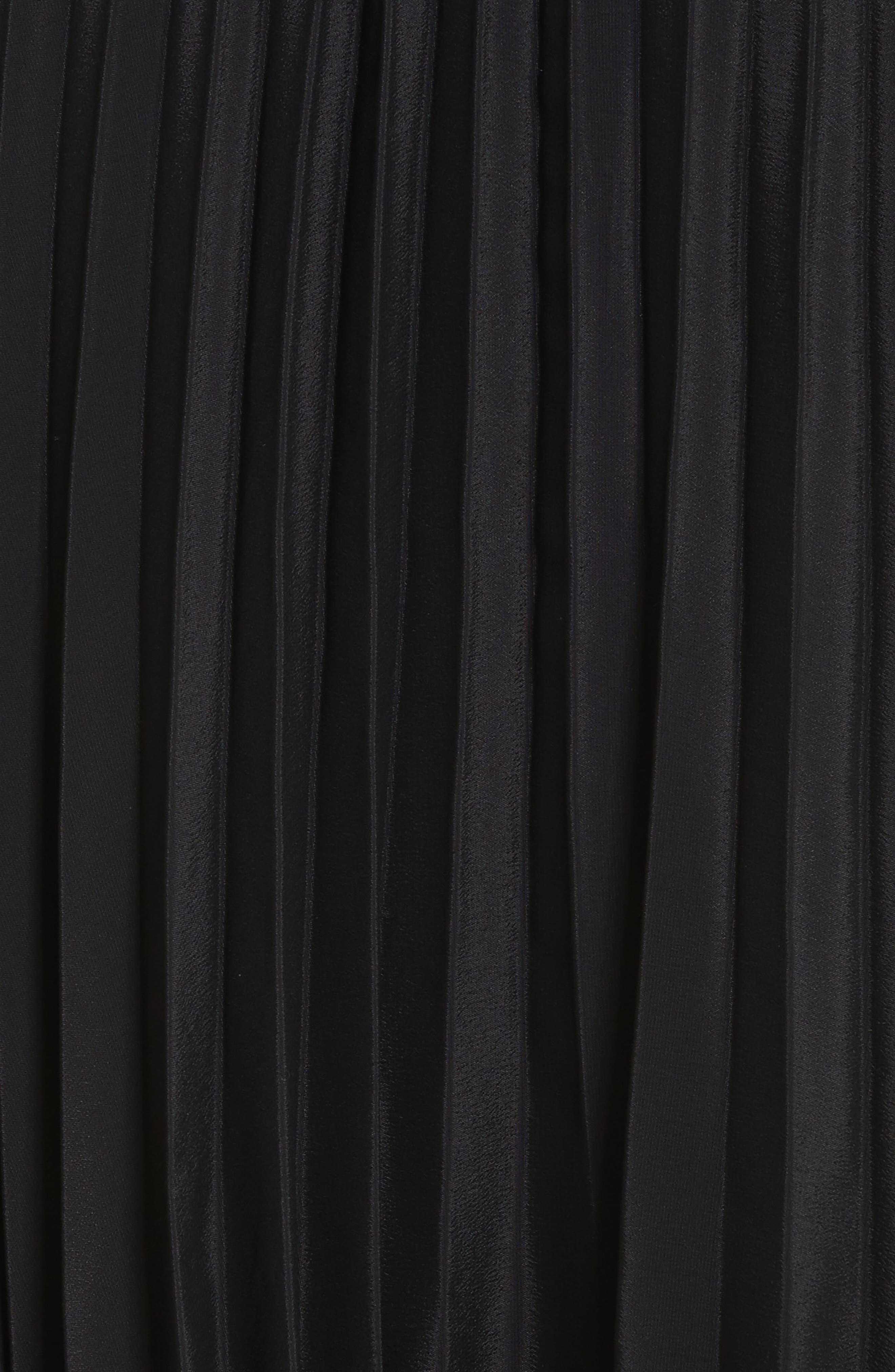 Pleated Skirt,                             Alternate thumbnail 5, color,                             Black