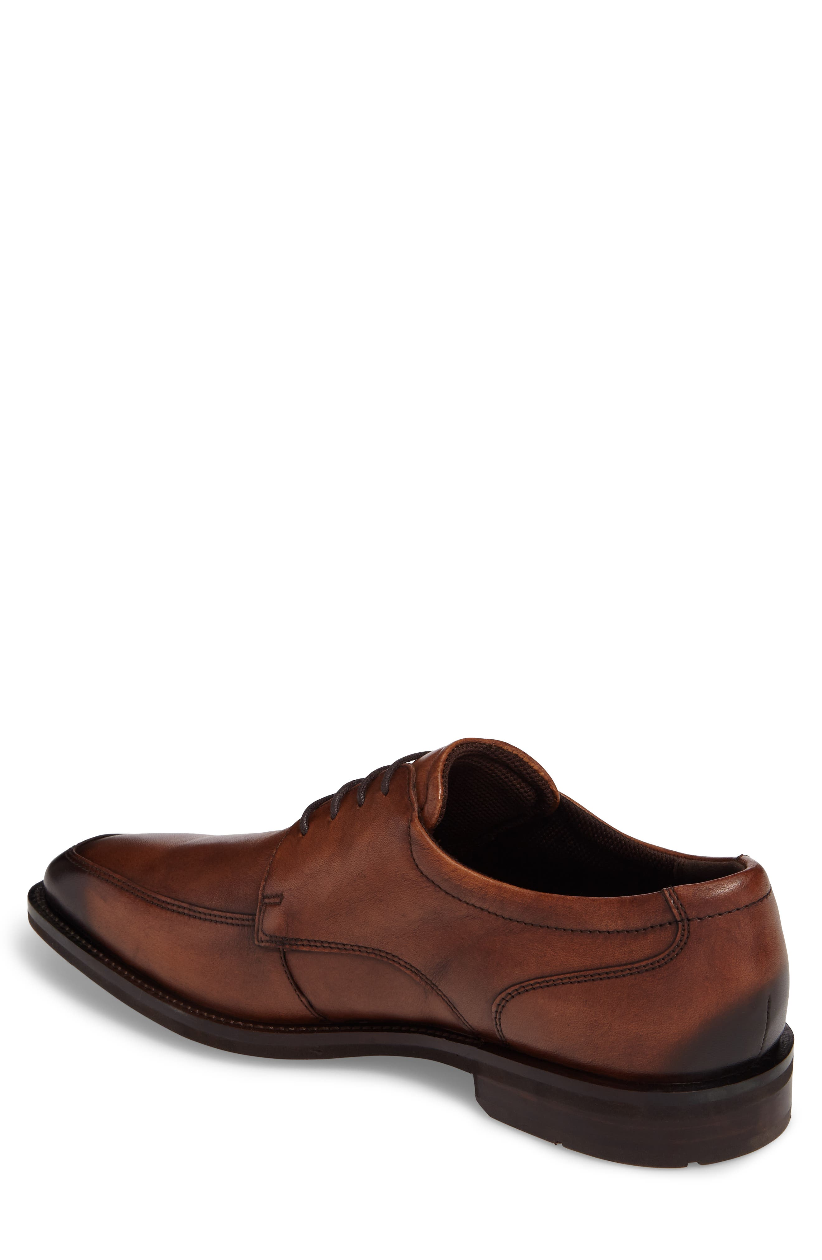 Faro Apron Toe Derby,                             Alternate thumbnail 2, color,                             Amber Leather
