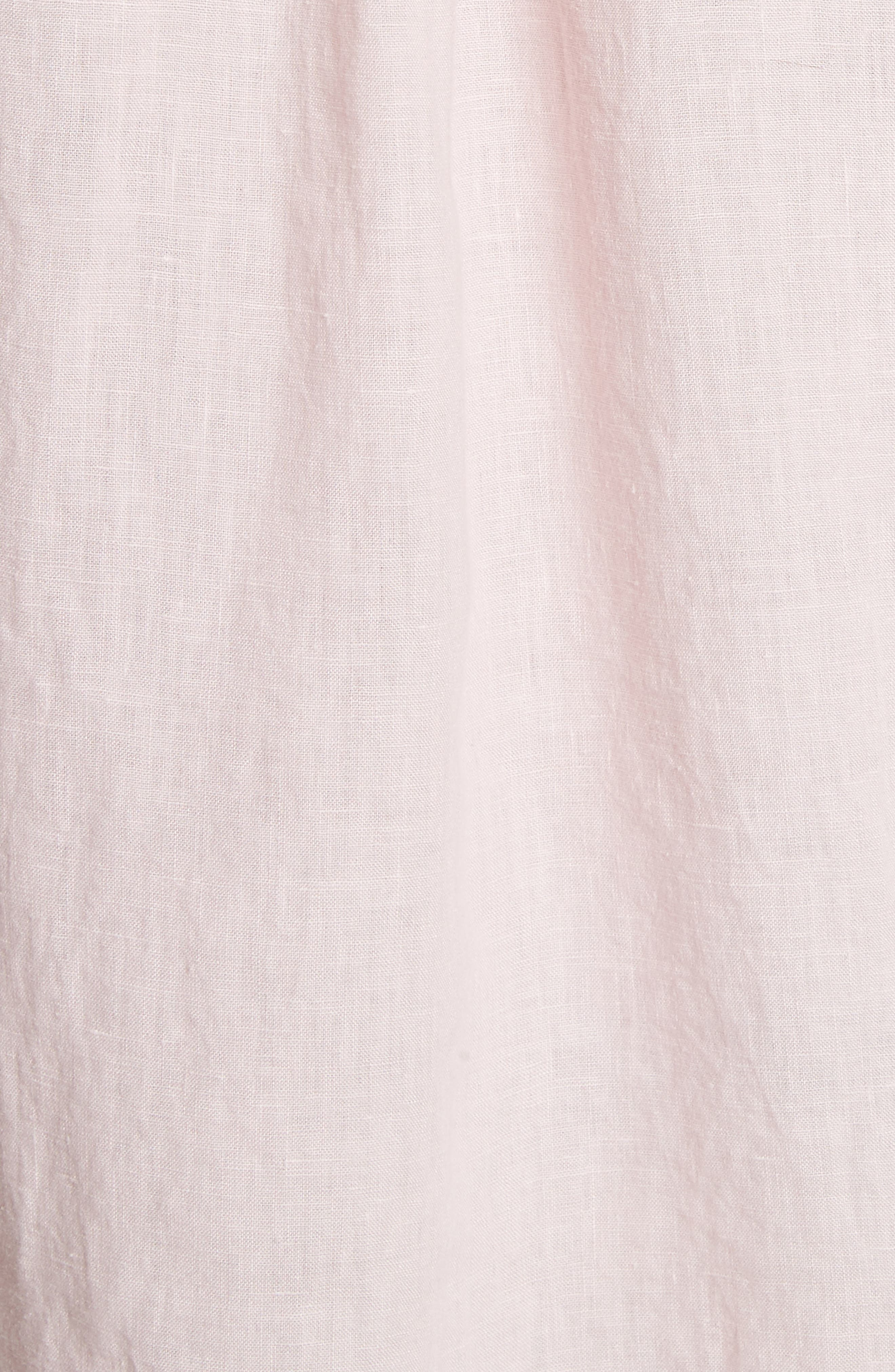 Linen Woven Shirt,                             Alternate thumbnail 5, color,                             Pink
