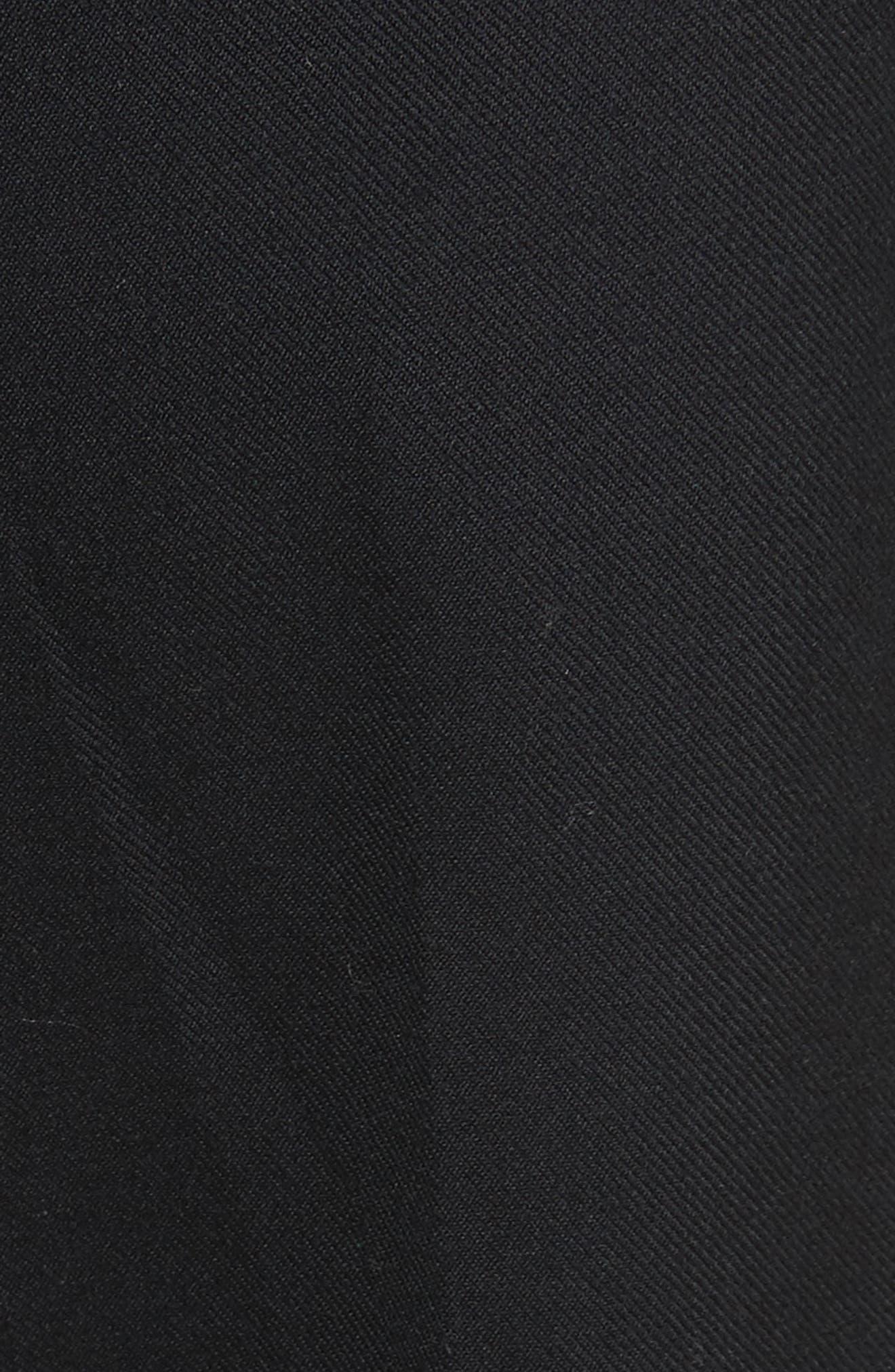 Pompom Hem Trousers,                             Alternate thumbnail 6, color,                             Black