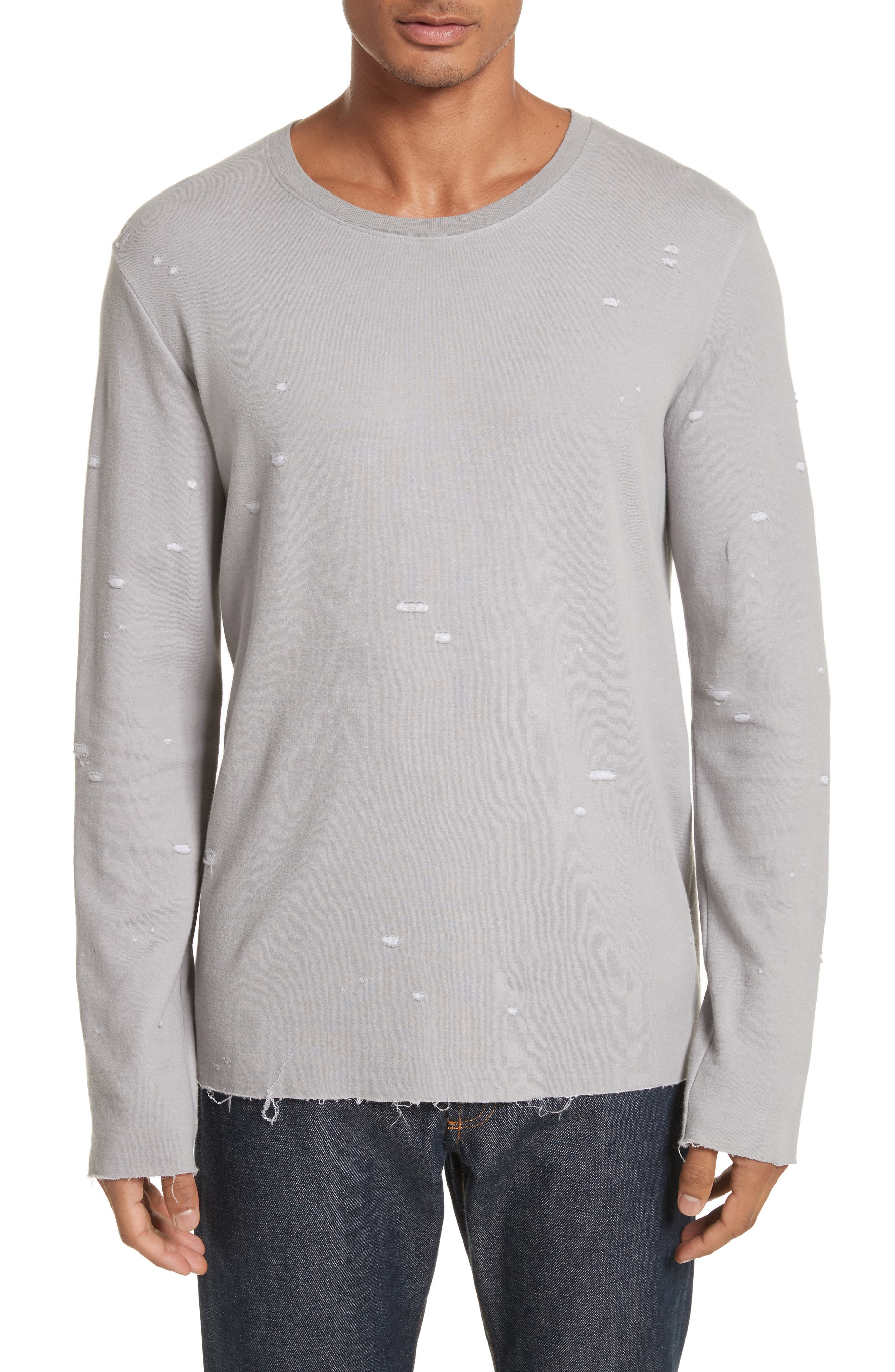 Long Sleeve T-Shirt,                         Main,                         color, Grey
