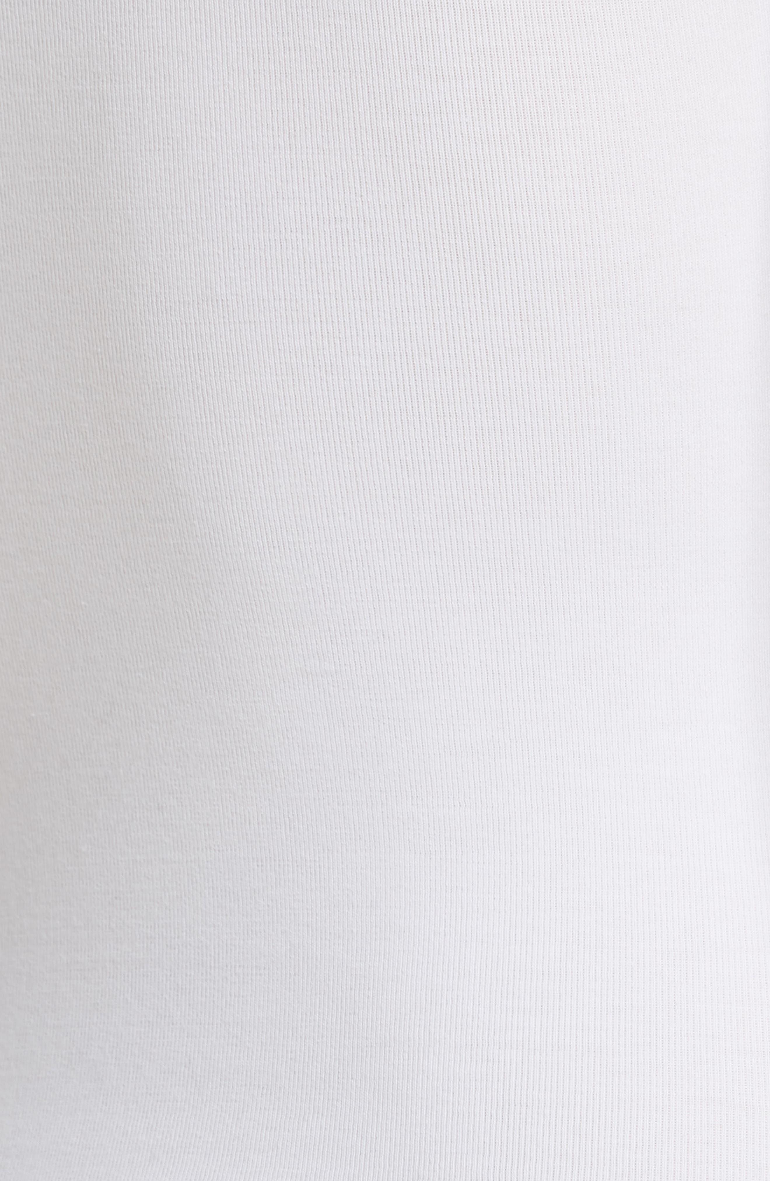 Stretch Cotton Bodysuit,                             Alternate thumbnail 5, color,                             Optic White