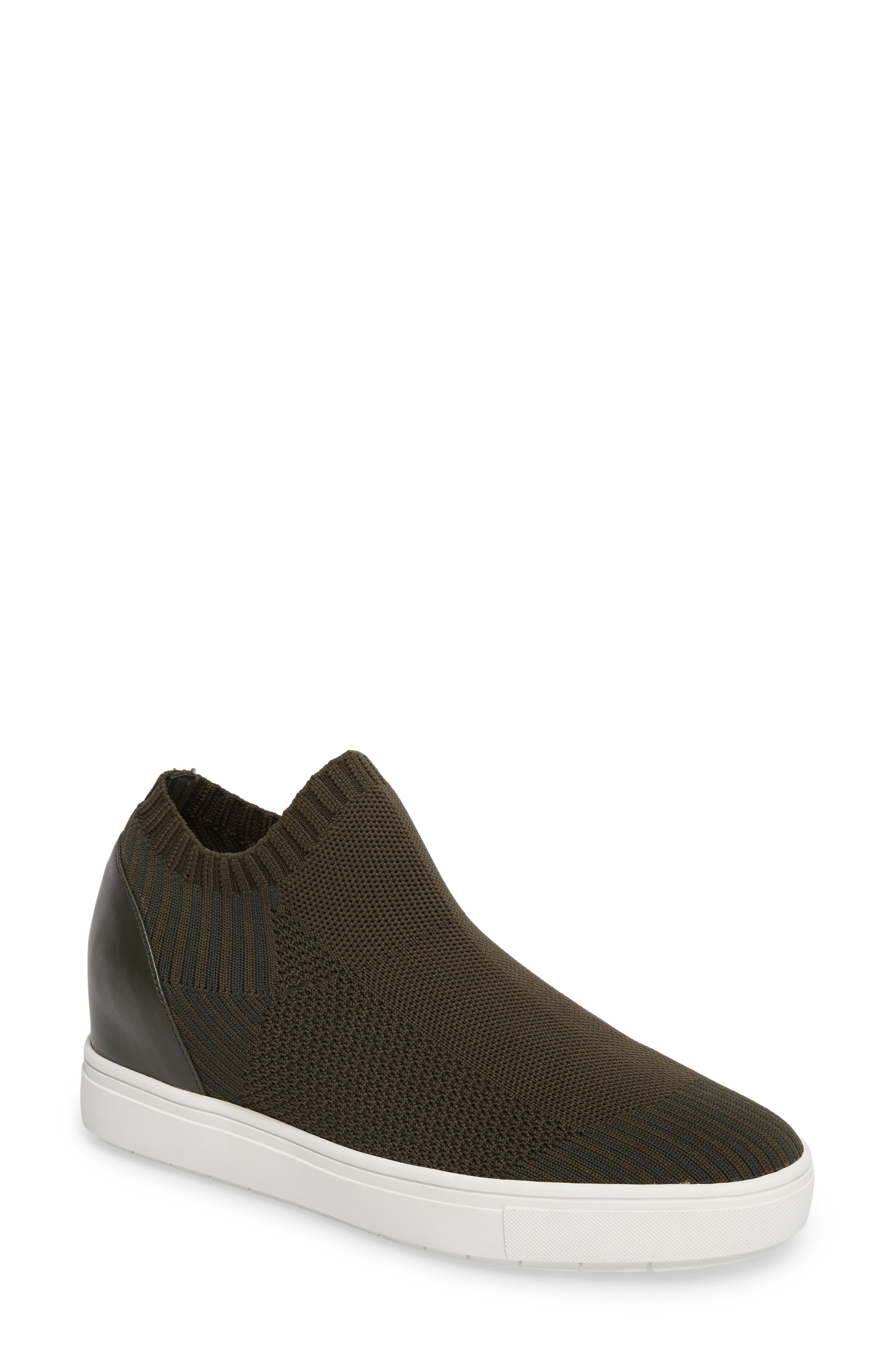 Sly Hidden Wedge Knit Sneaker,                             Main thumbnail 1, color,                             Olive Fabric