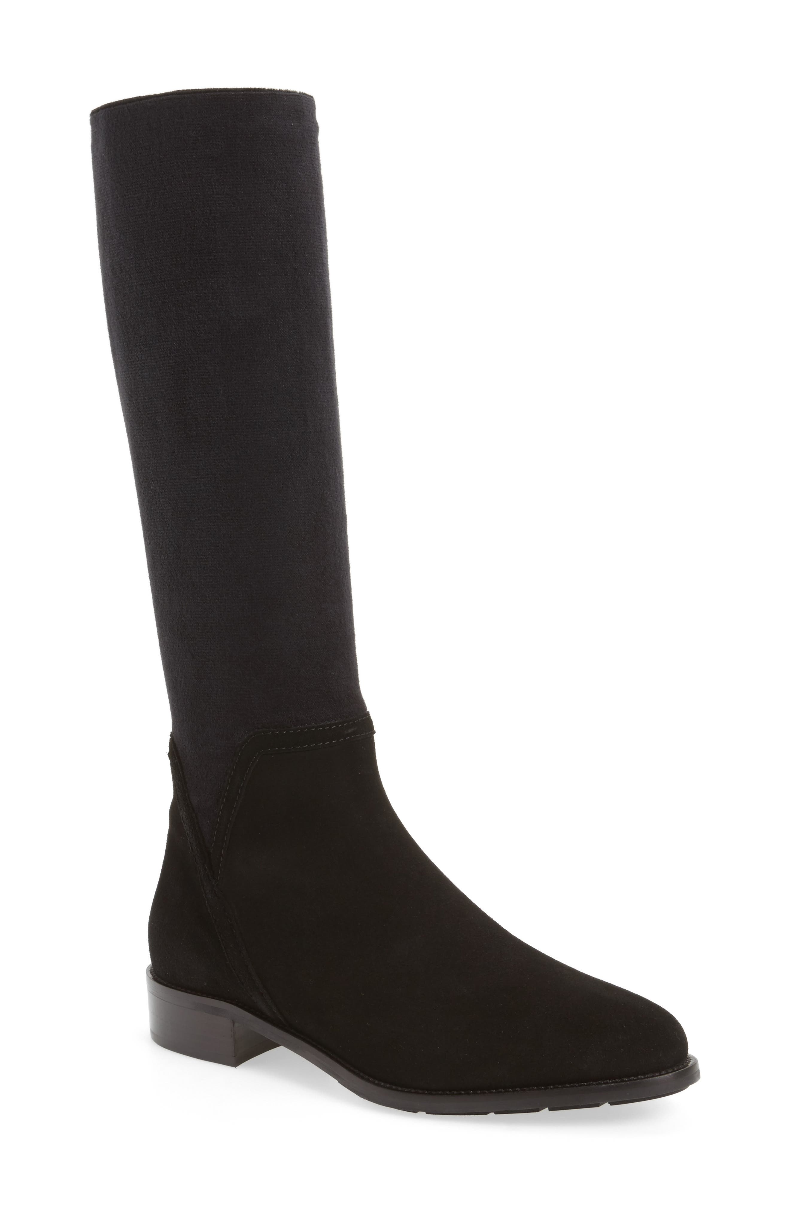Nicolette Knee High Weatherproof Boot,                             Main thumbnail 1, color,                             Black