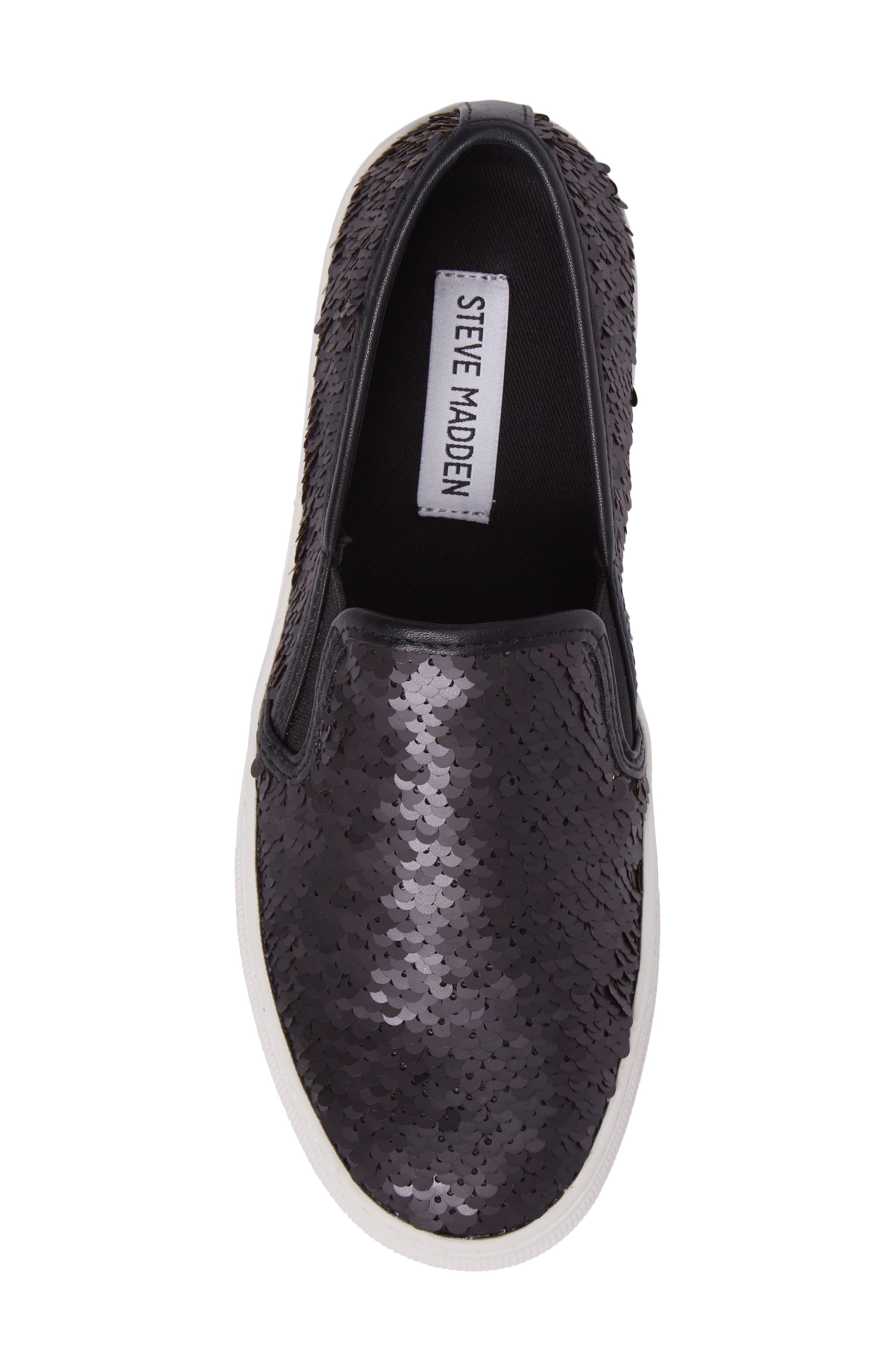 Alternate Image 6  - Steve Madden Gills Sequined Slip-On Platform Sneaker (Women)