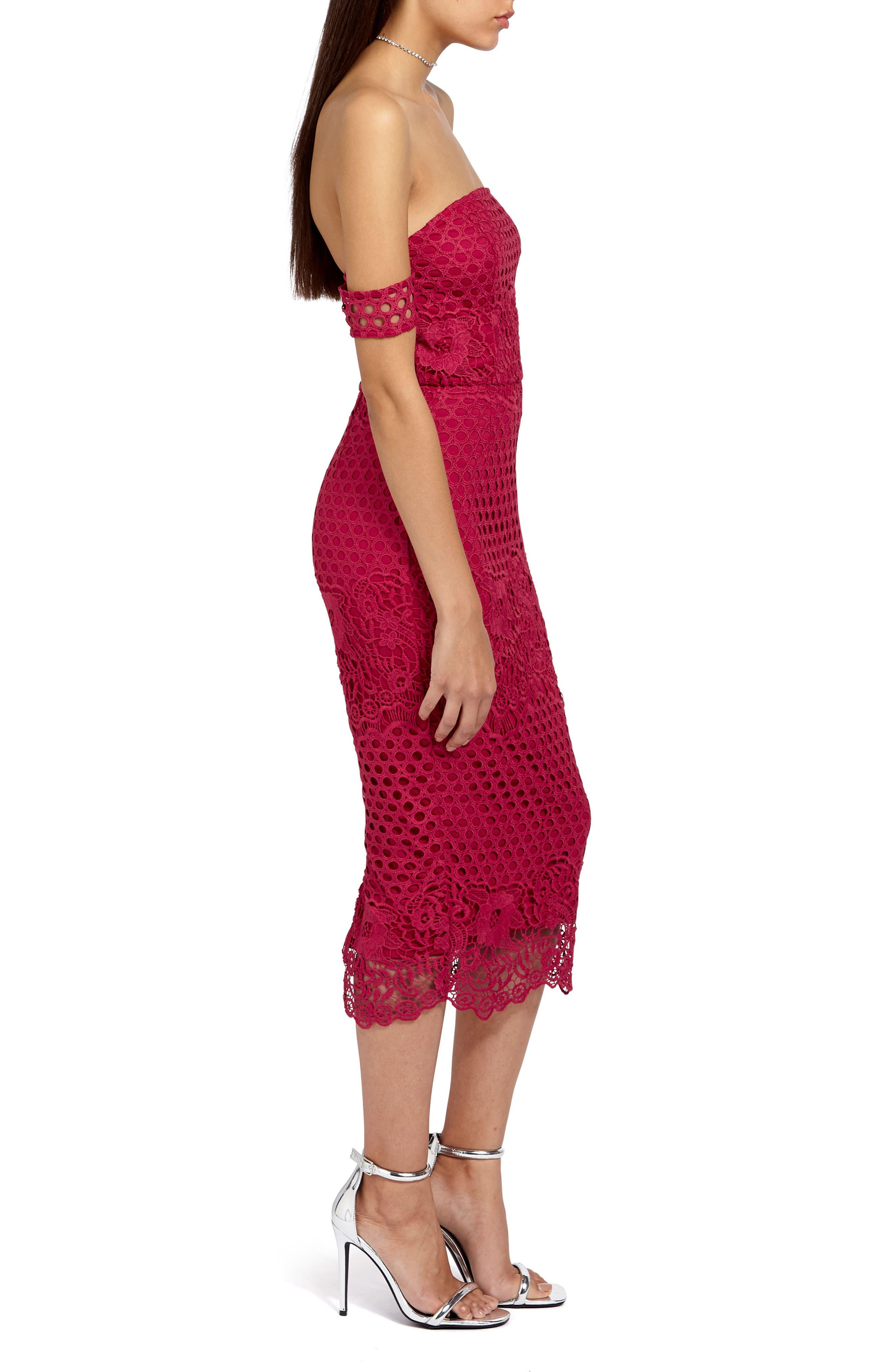 Alternate Image 3  - Missguided Lace Bardot Body-Con Dress