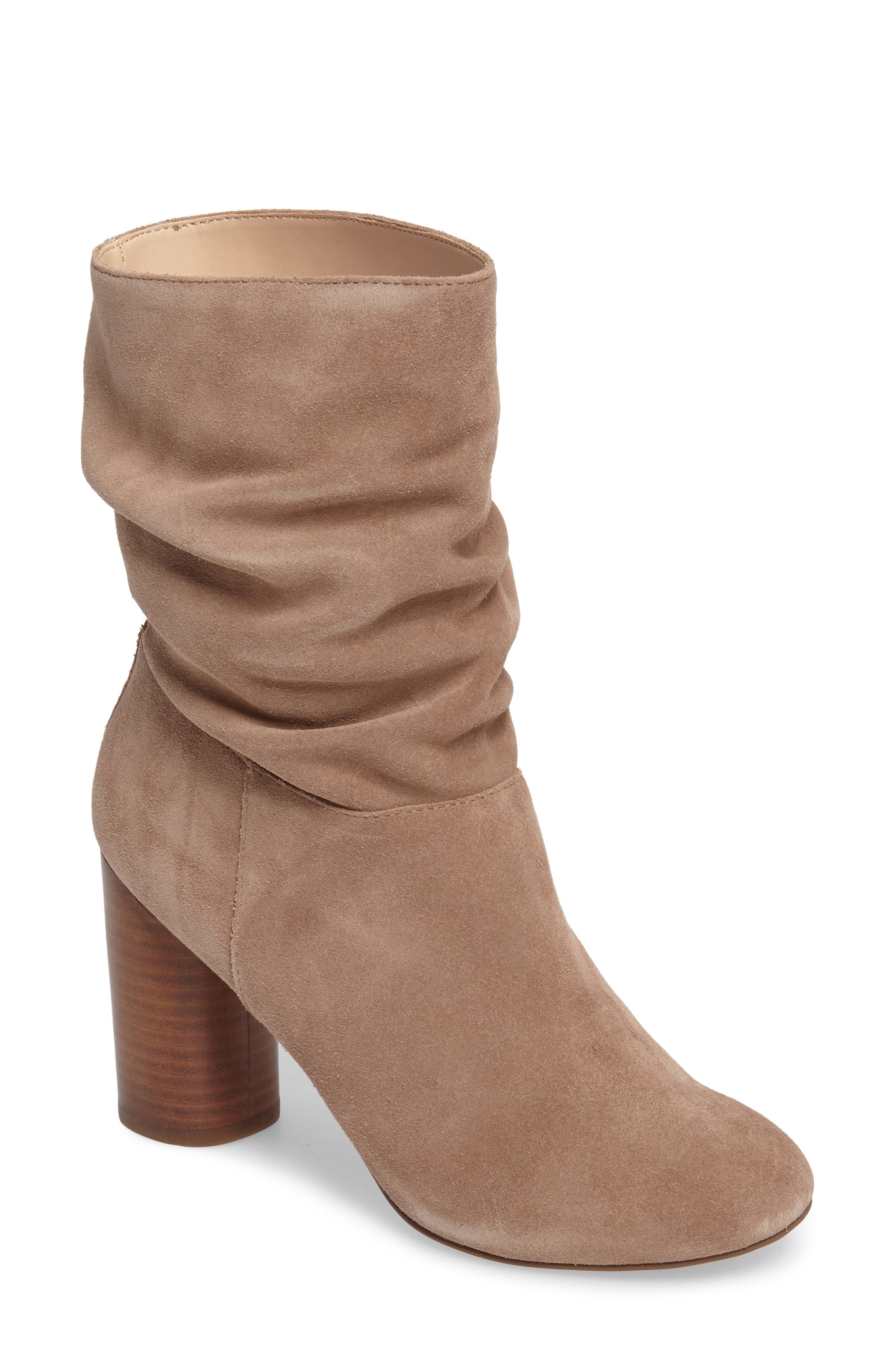 Belen Slouchy Bootie,                         Main,                         color, Night Taupe