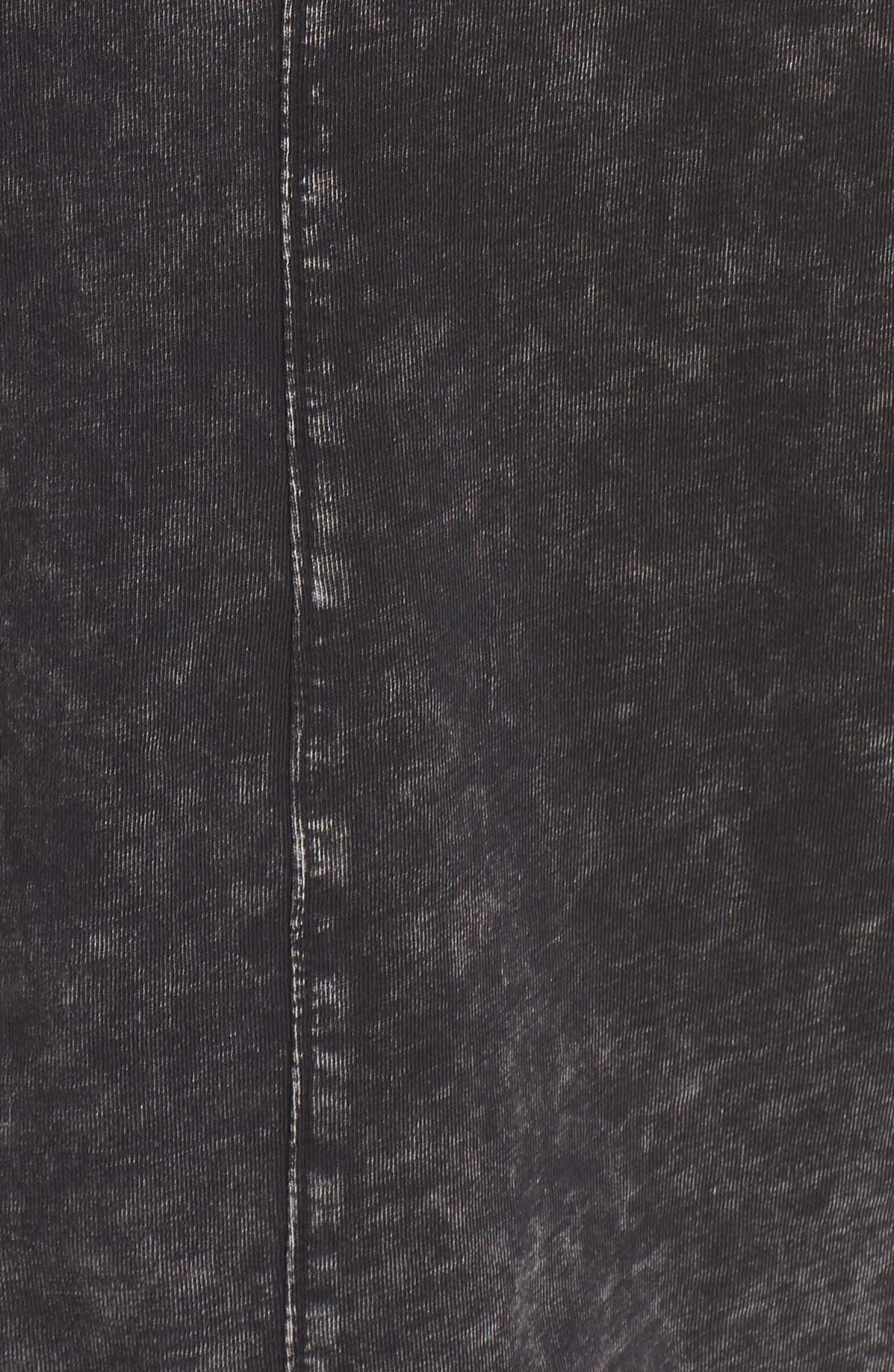 Ramones Stonewashed Tee,                             Alternate thumbnail 5, color,                             Black