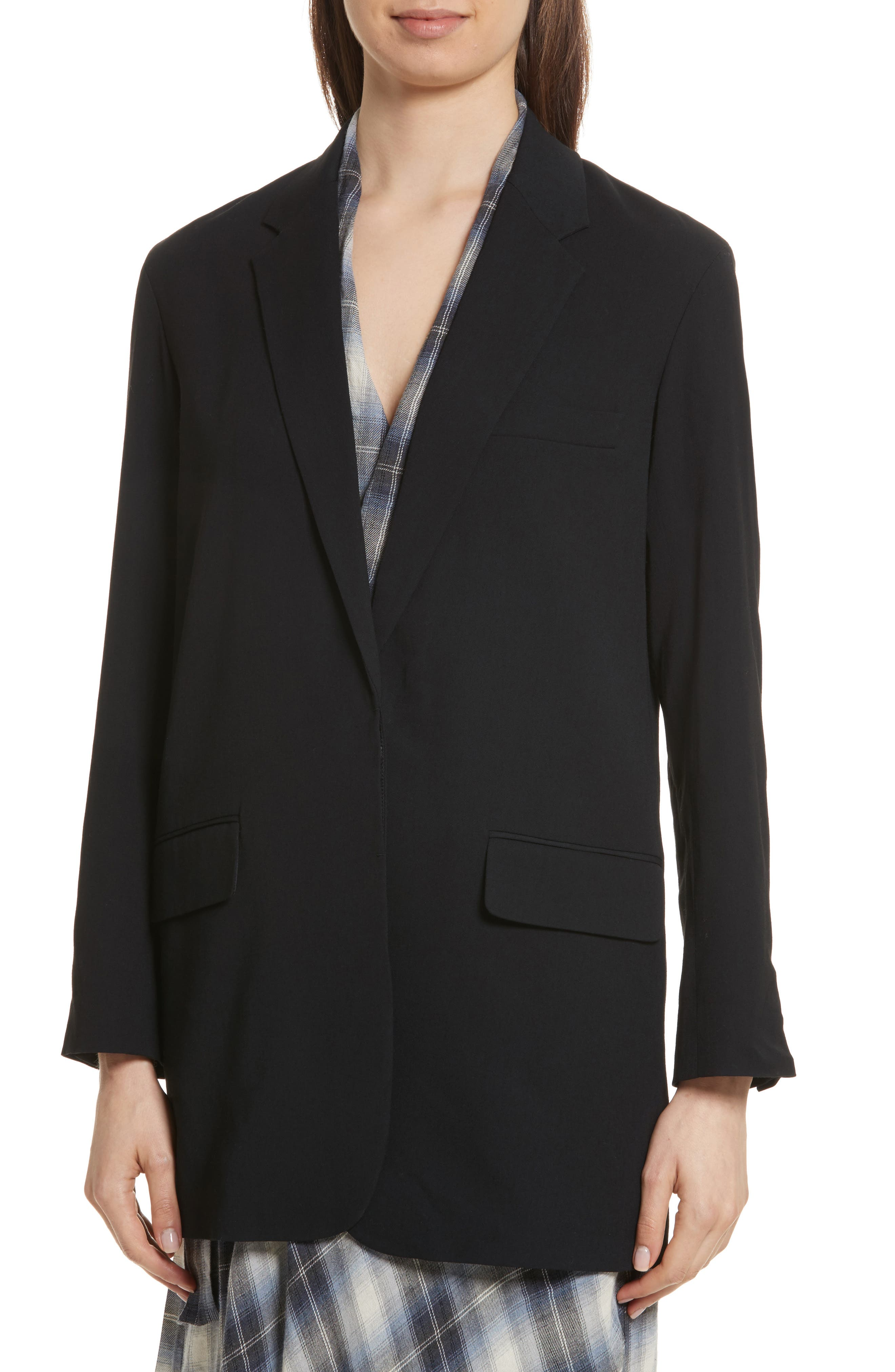 Soft Blazer,                             Alternate thumbnail 4, color,                             Black