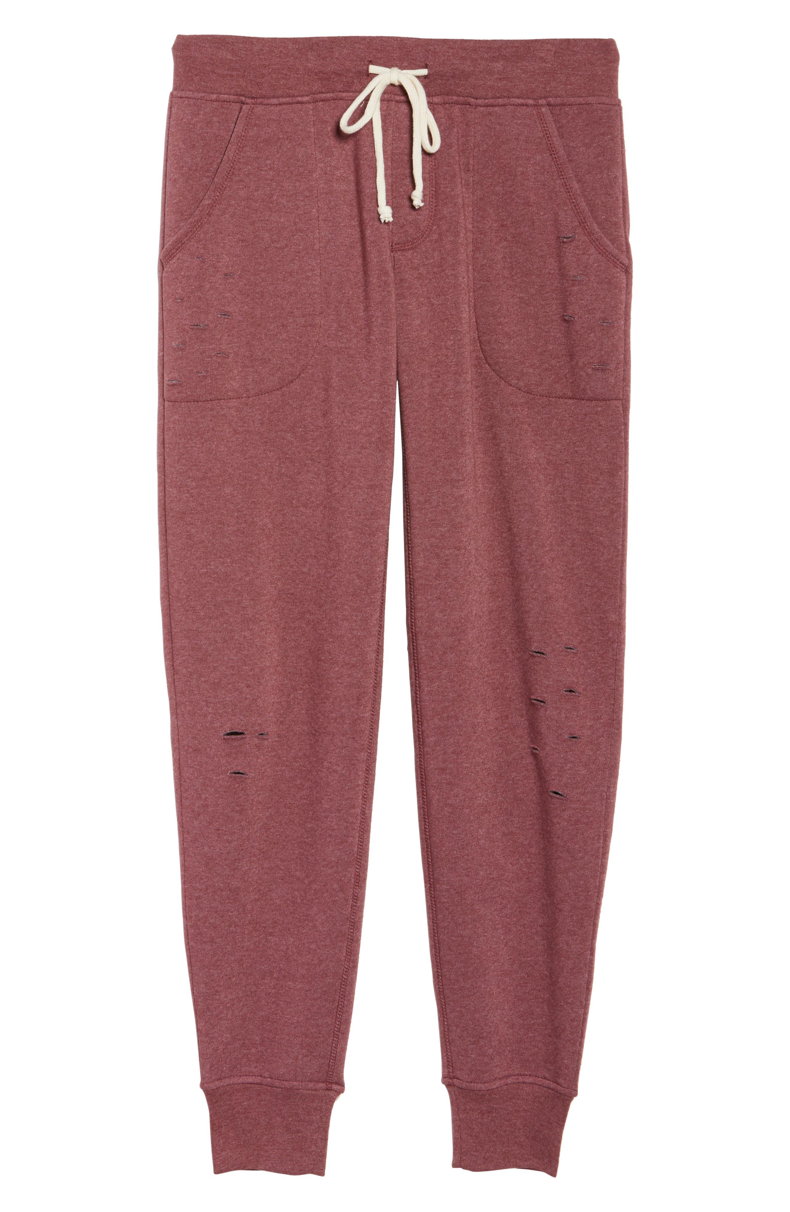 Alternate Image 4  - Alternative Distressed Eco Fleece Jogger Pants