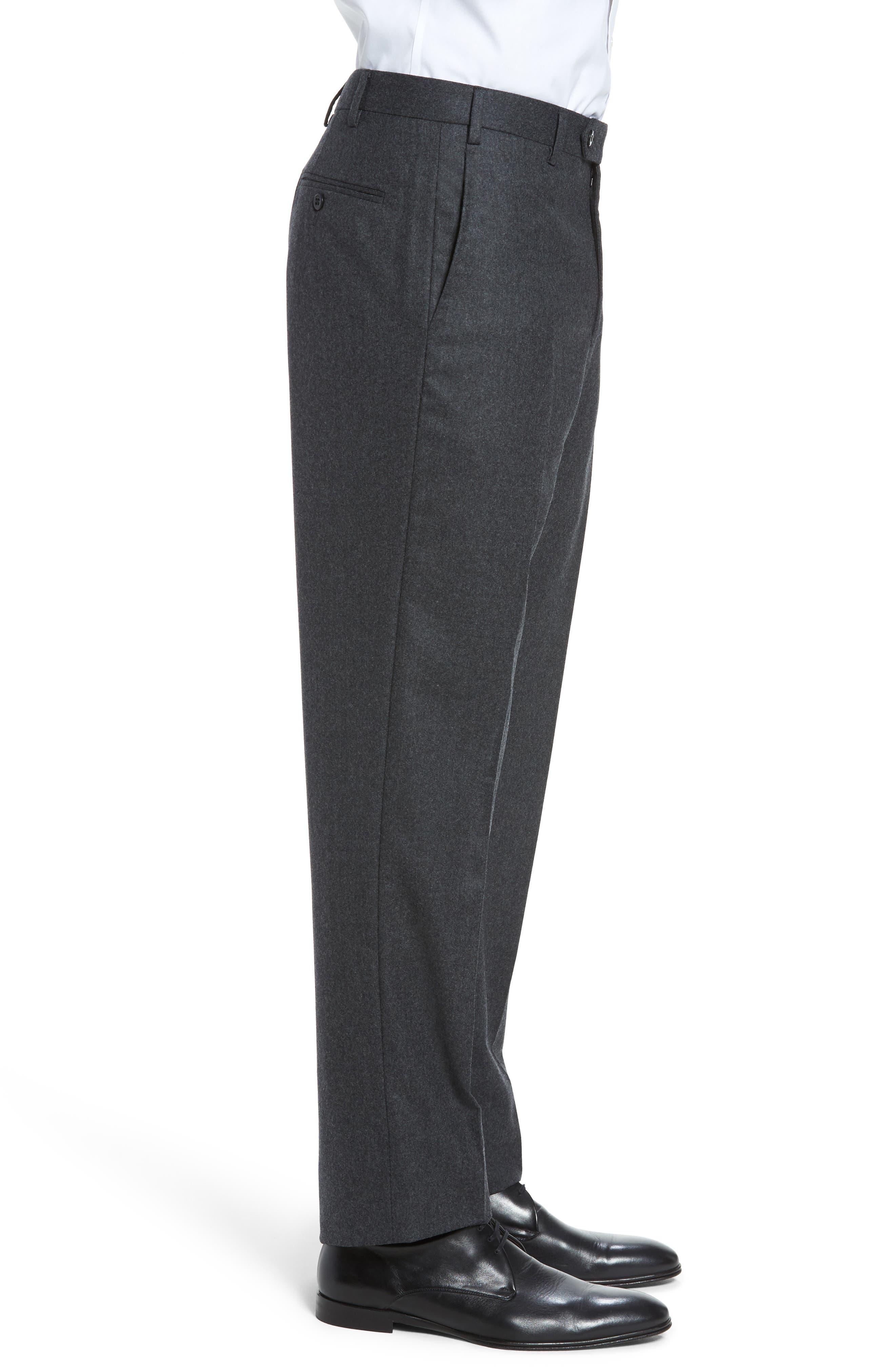 Alternate Image 4  - Zanella Devon Flat Front Solid Wool Flannel Trousers