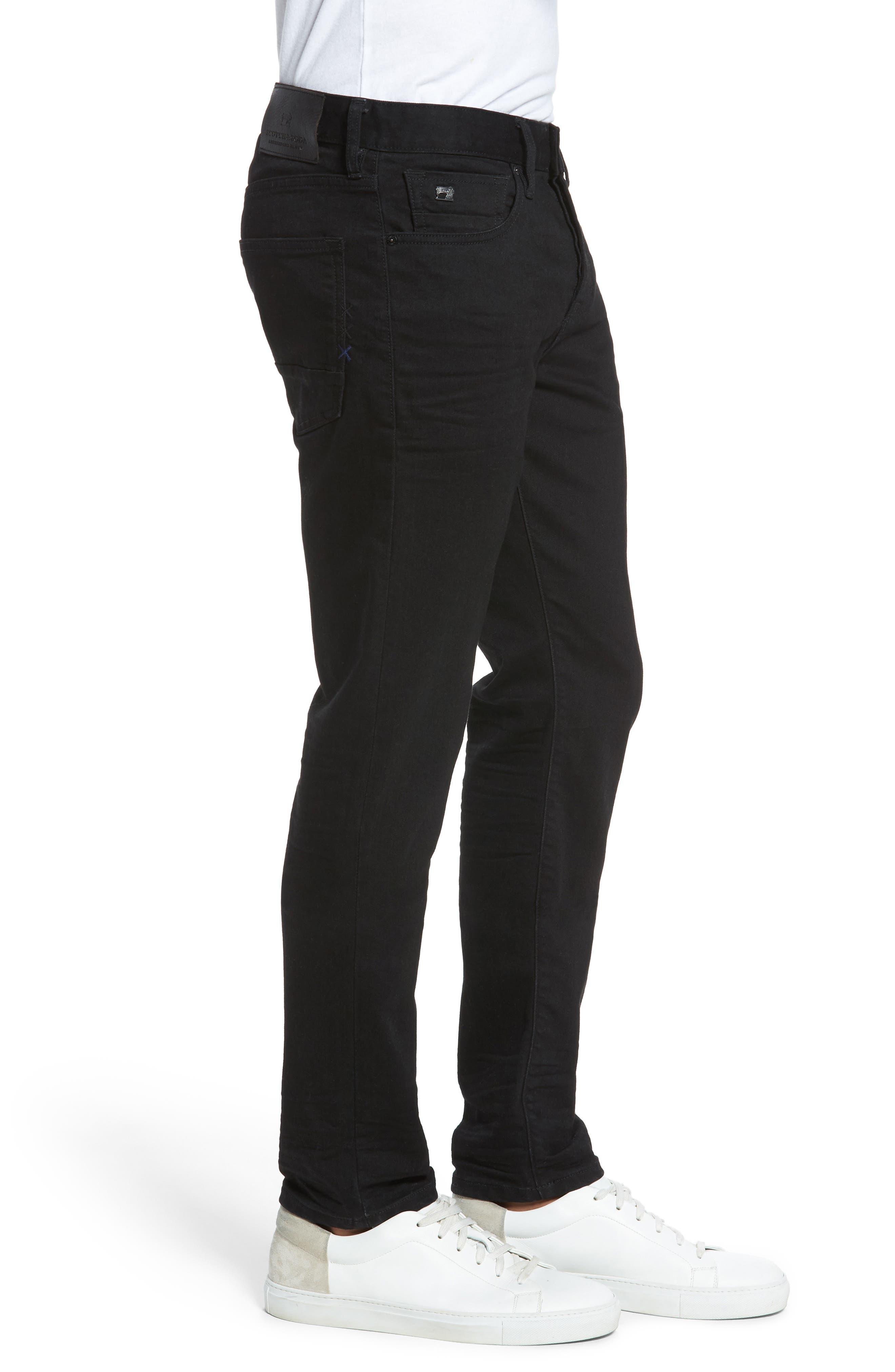 Alternate Image 3  - Scotch & Soda Ralston Slim Straight Leg Jeans (Stay Black)