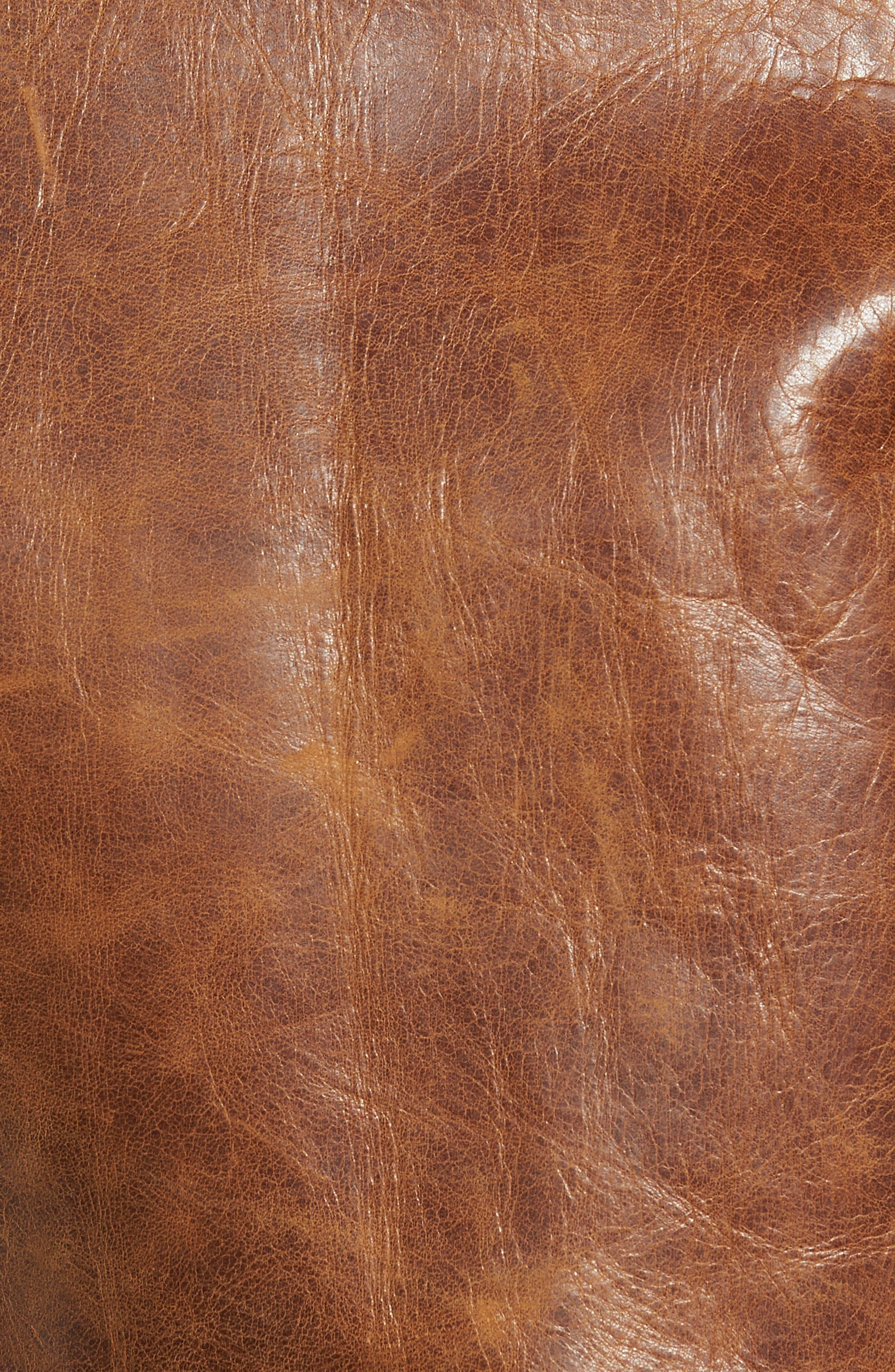Alternate Image 5  - Schott NYC Asymmetrical Waxy Leather Jacket