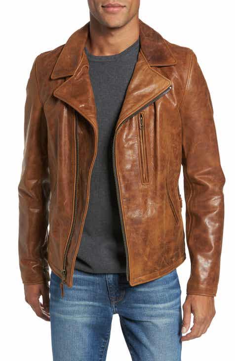 Schott NYC Asymmetrical Waxy Leather Jacket ae971fd066b