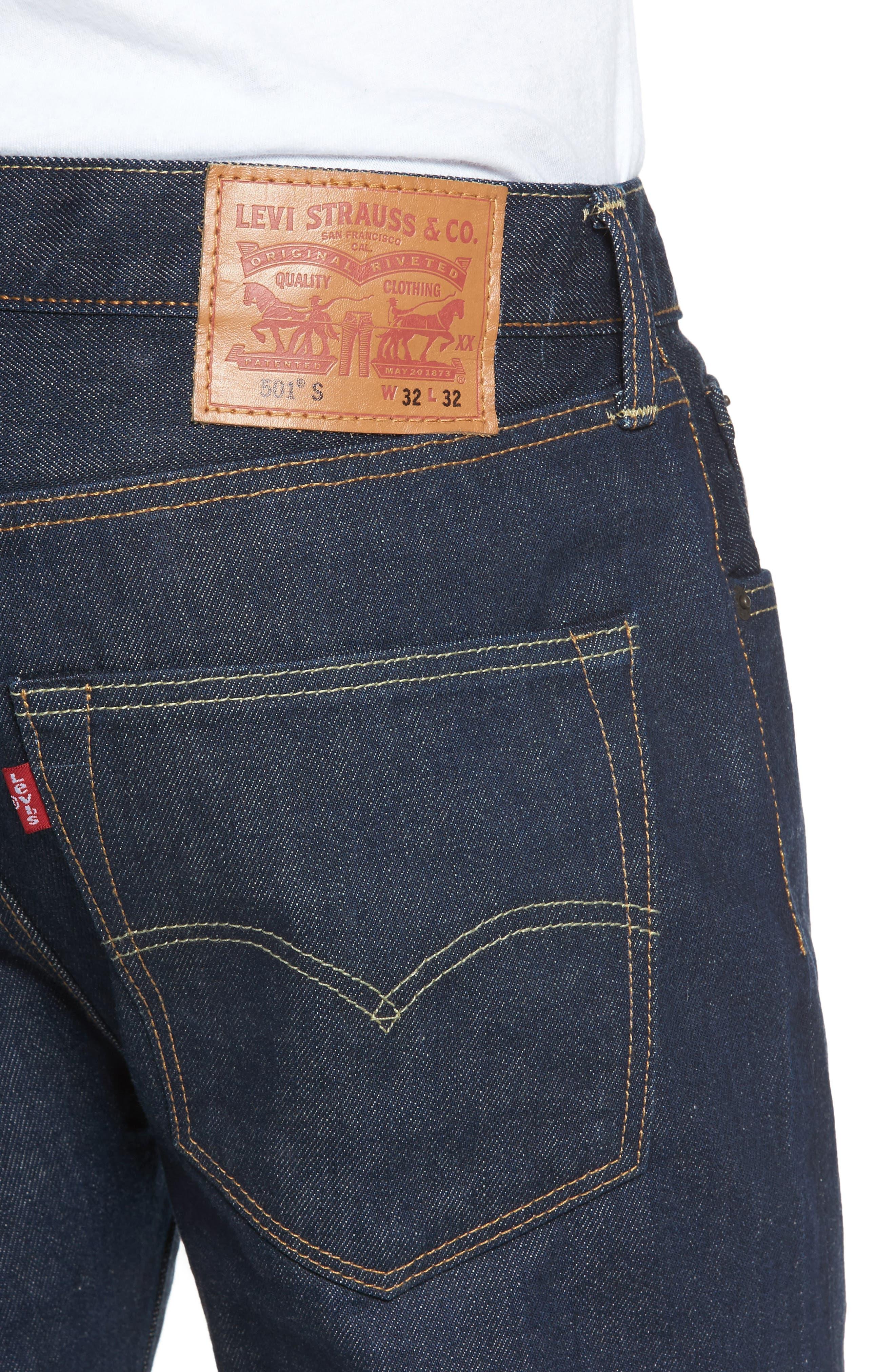 501<sup>™</sup> Skinny Leg Jeans,                             Alternate thumbnail 4, color,                             Noten