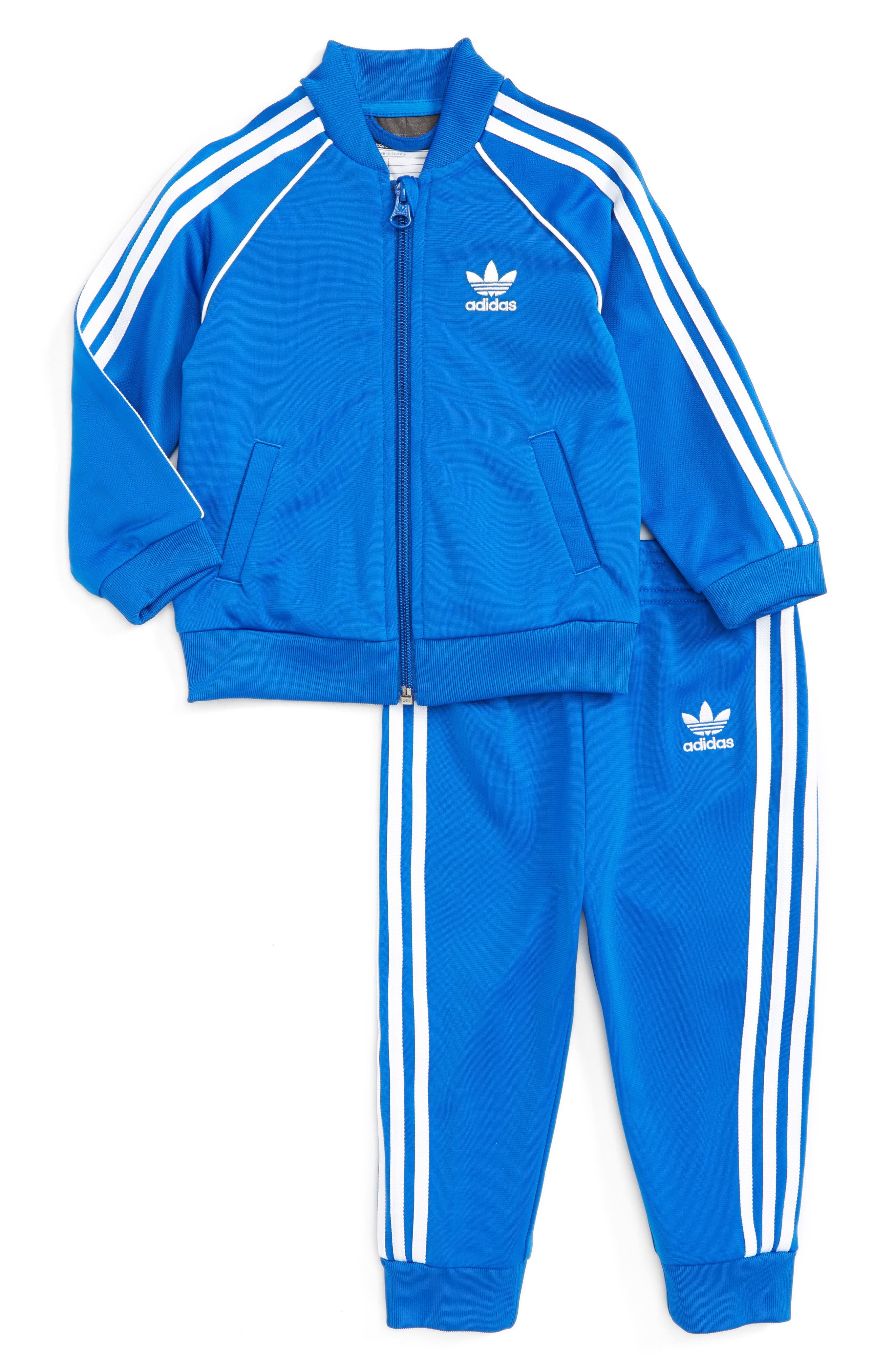 Originals Track Jacket & Athletic Pants Set,                             Main thumbnail 1, color,                             Blue