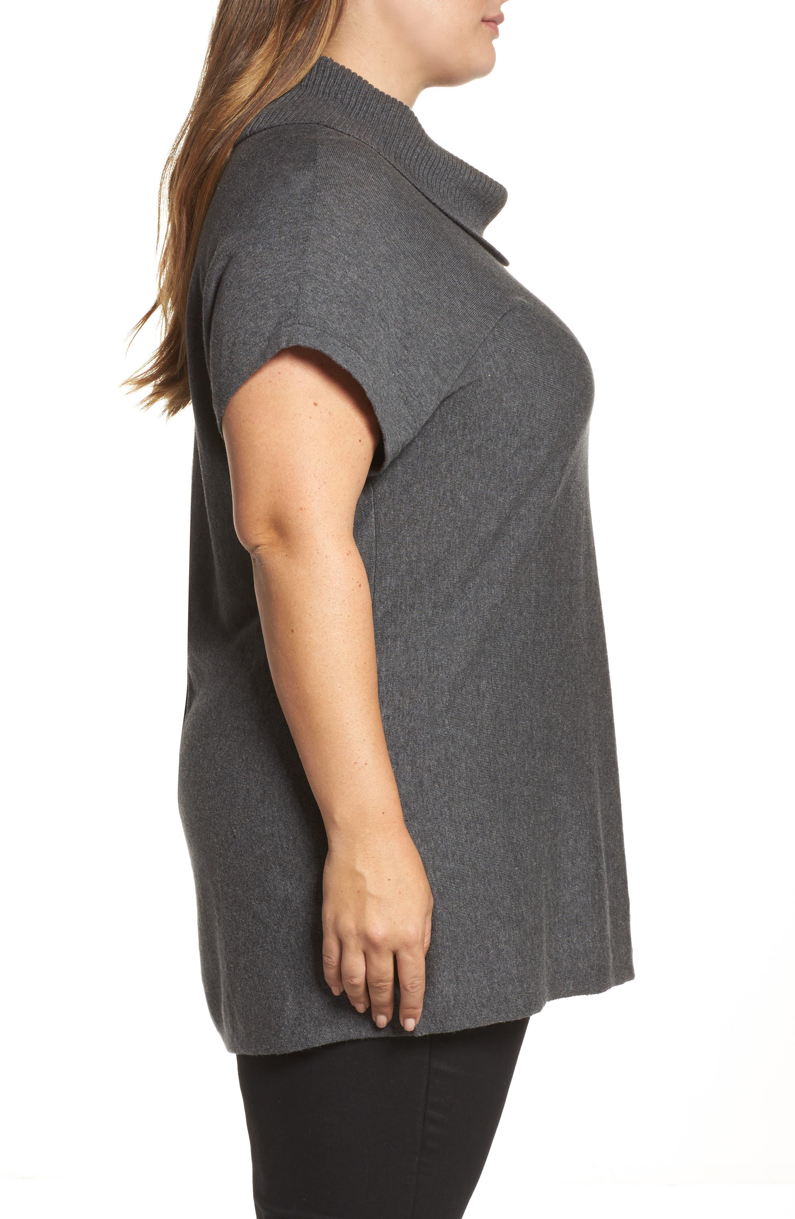 Alternate Image 3  - Vince Camuto Turtleneck Sweater (Plus Size)