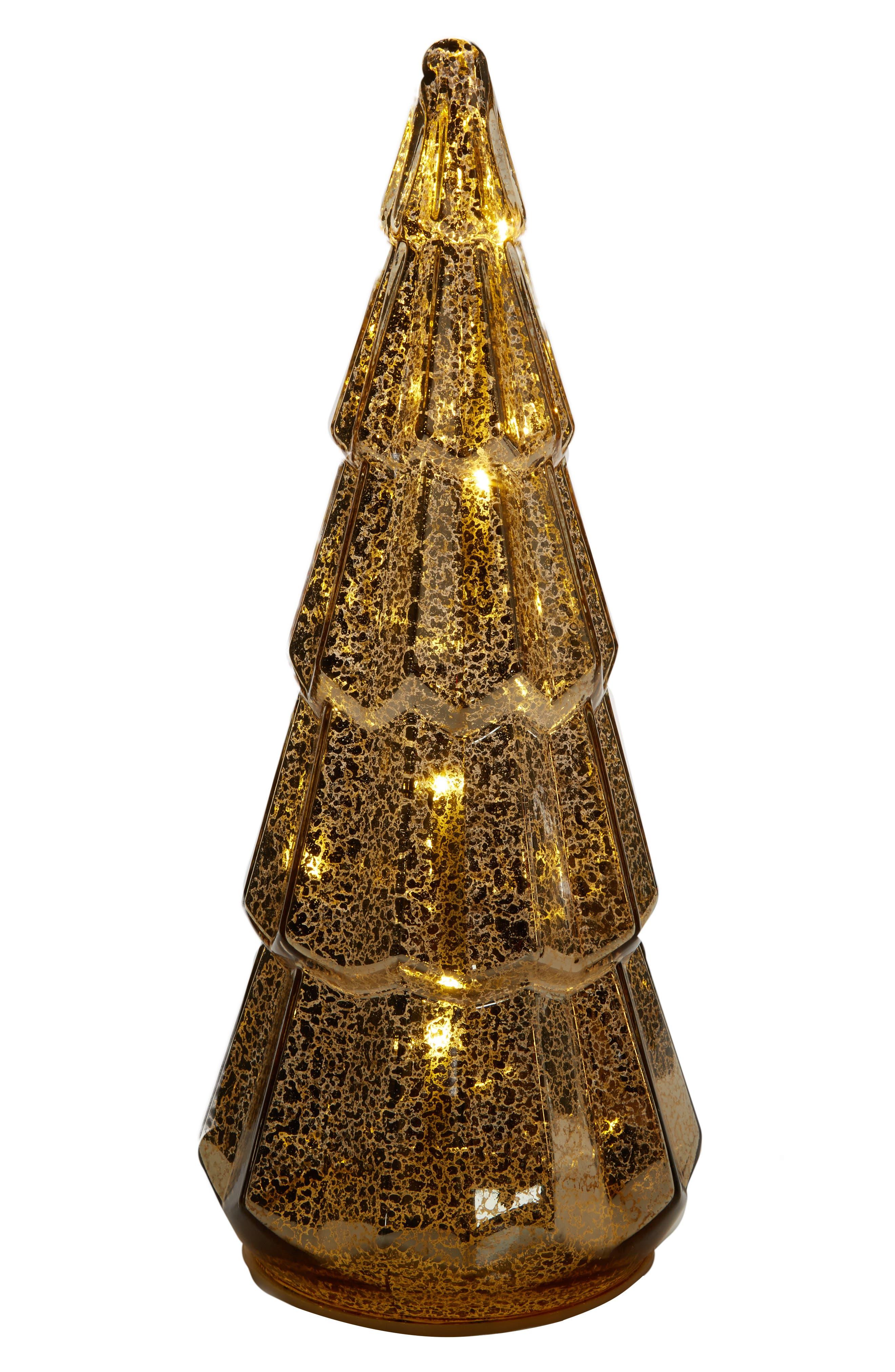 LED Glass Tree,                             Alternate thumbnail 2, color,                             Gold
