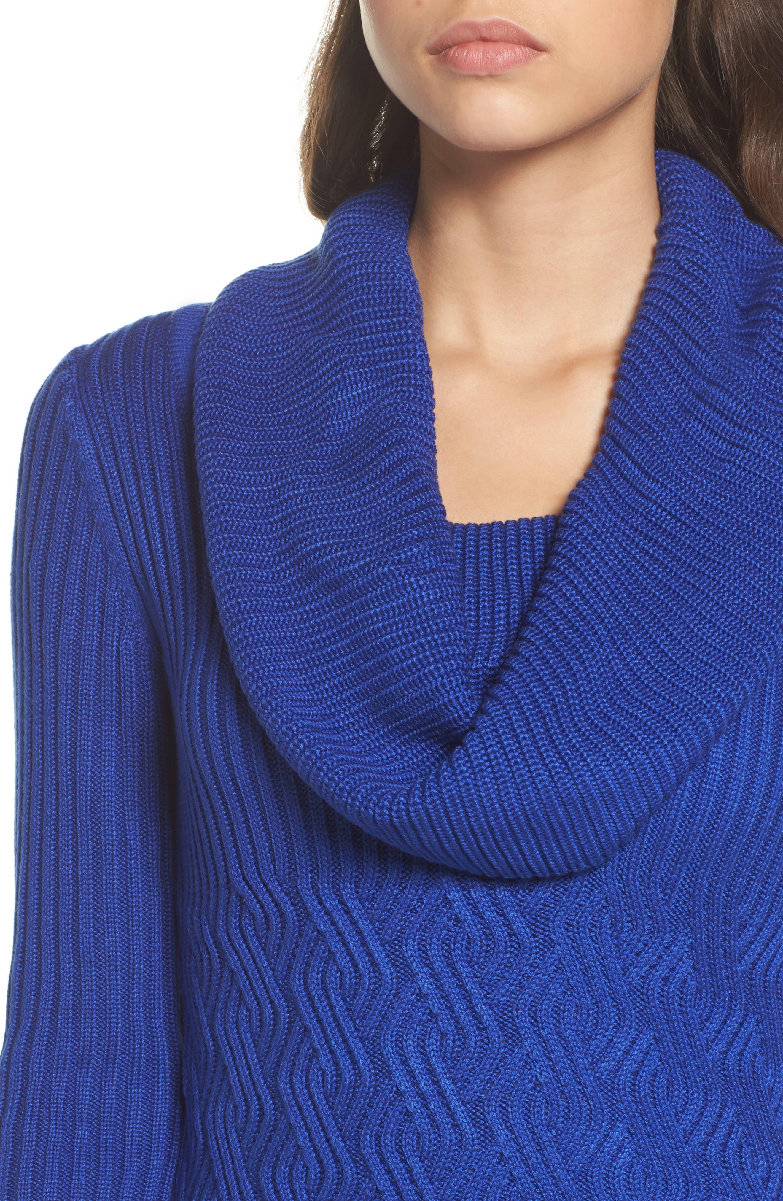 Alternate Image 4  - Eliza J Cowl Neck Sweater Dress