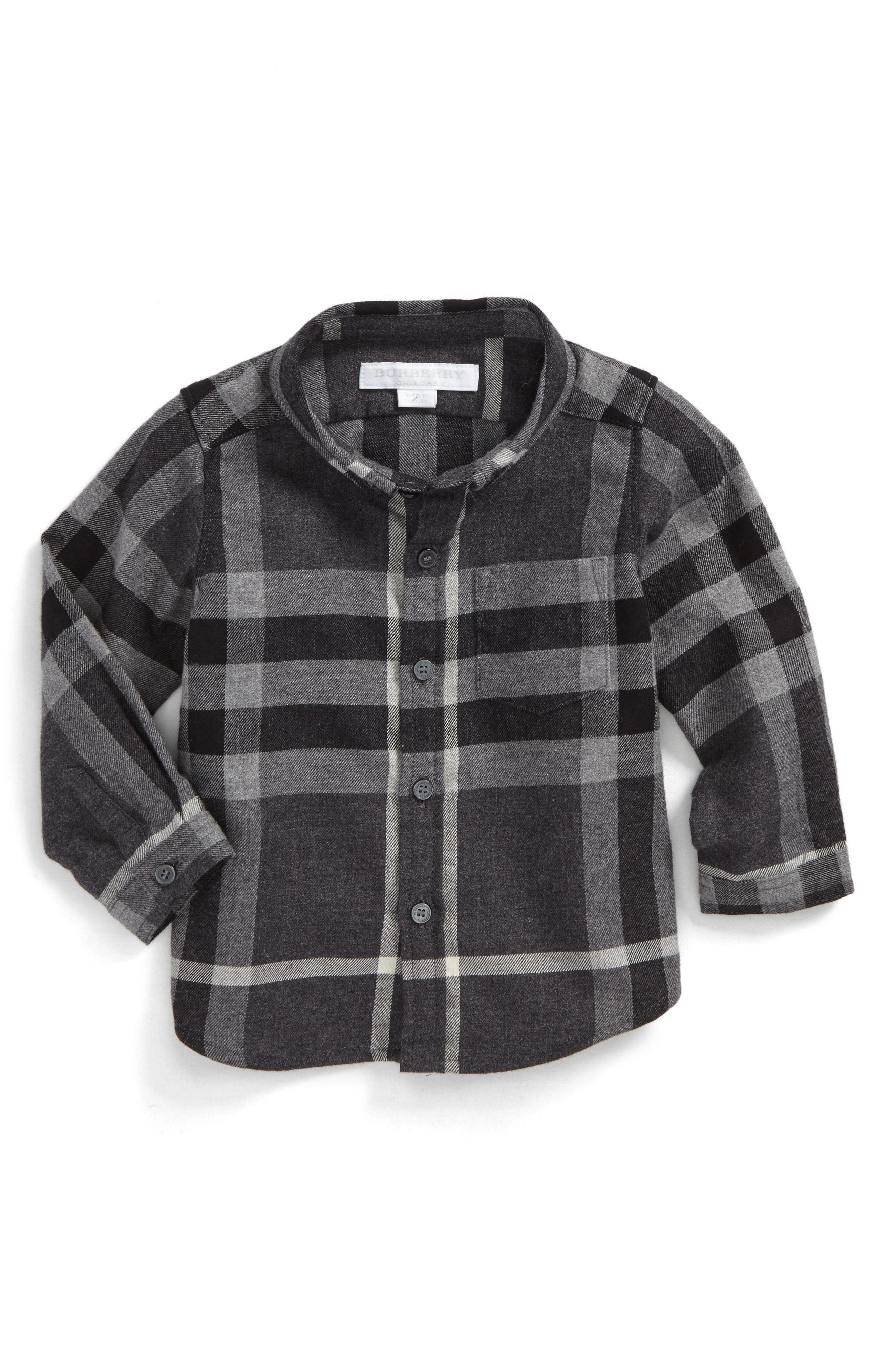 Alternate Image 1 Selected - Burberry Mini Fred Check Woven Shirt (Baby Boys)