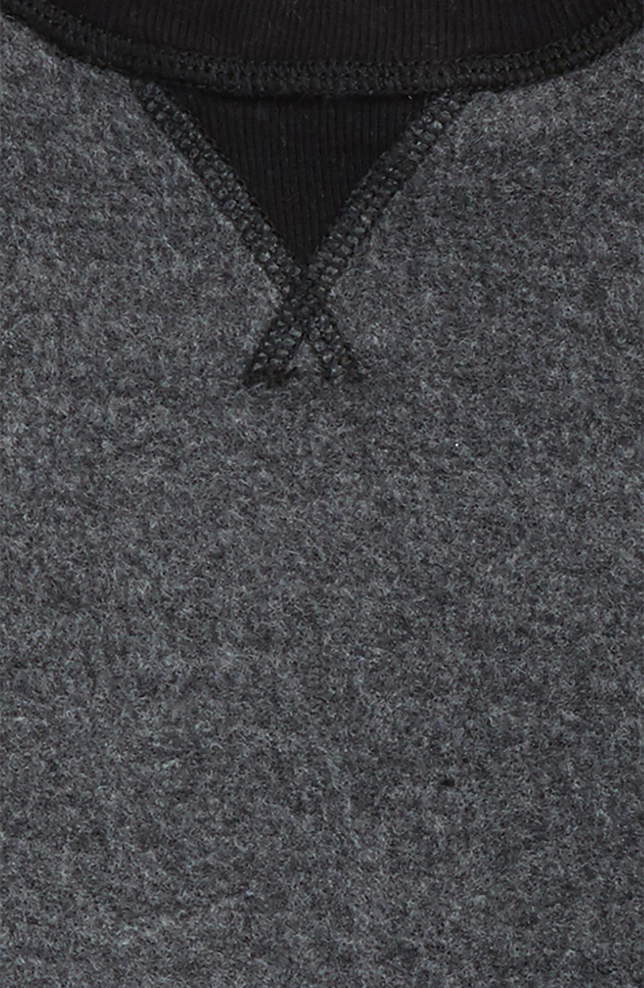 Reverse Crewneck Sweatshirt,                             Alternate thumbnail 2, color,                             Grey Charcoal Heather