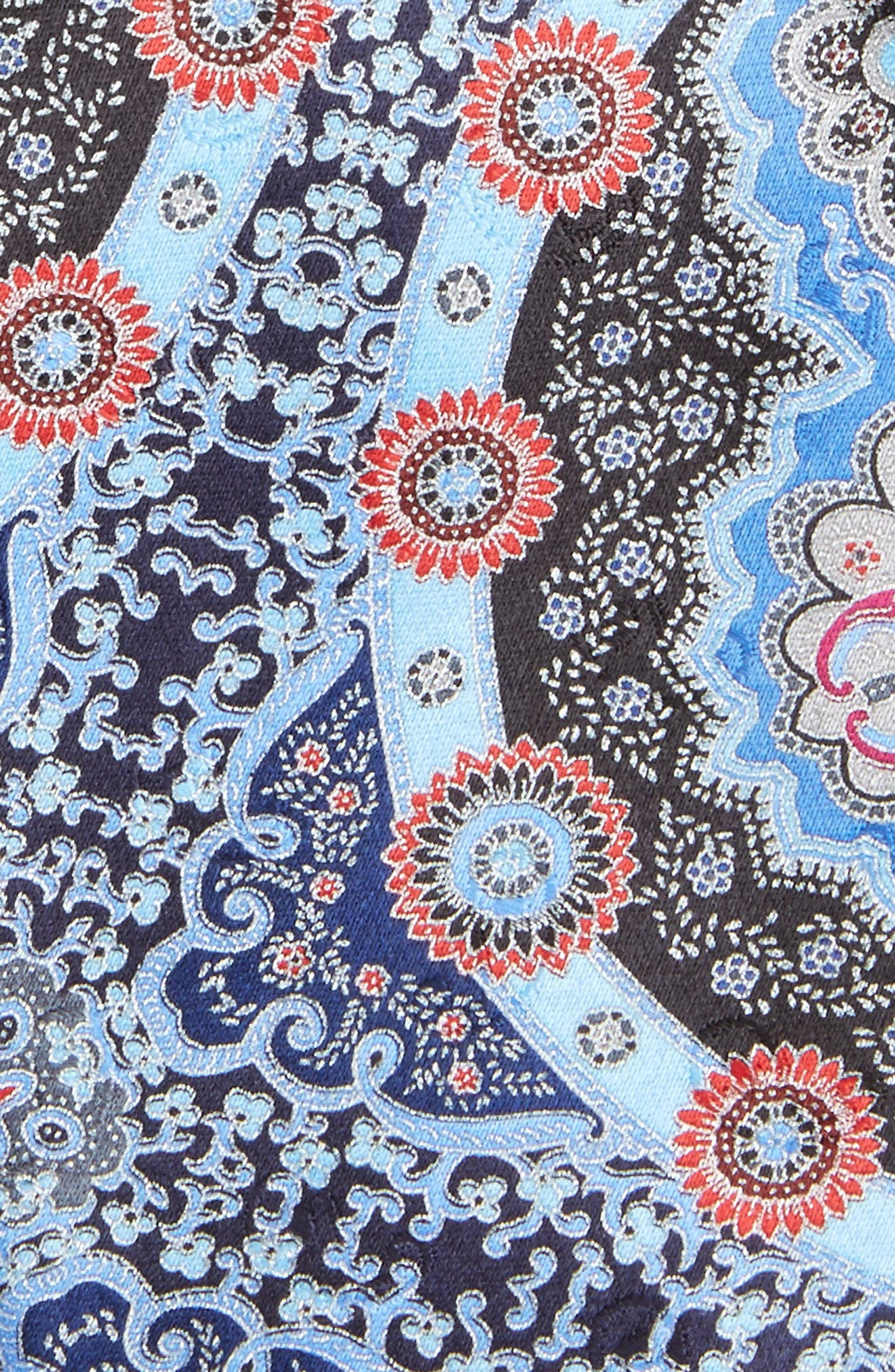 Quindici Paisley Silk Tie,                             Alternate thumbnail 2, color,                             Blue