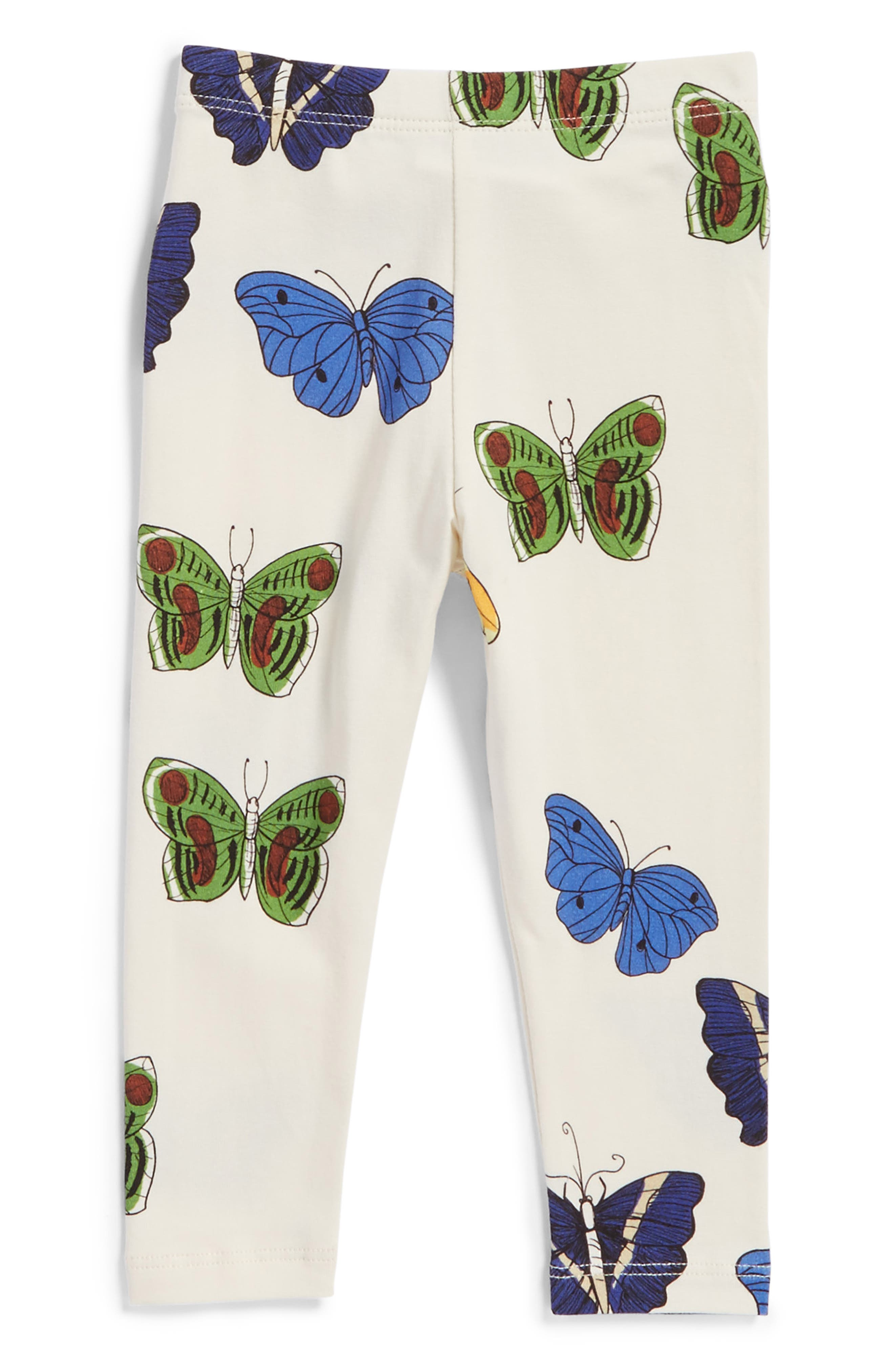 Mini Rodini Butterflies Organic Cotton Leggings (Baby Girls)
