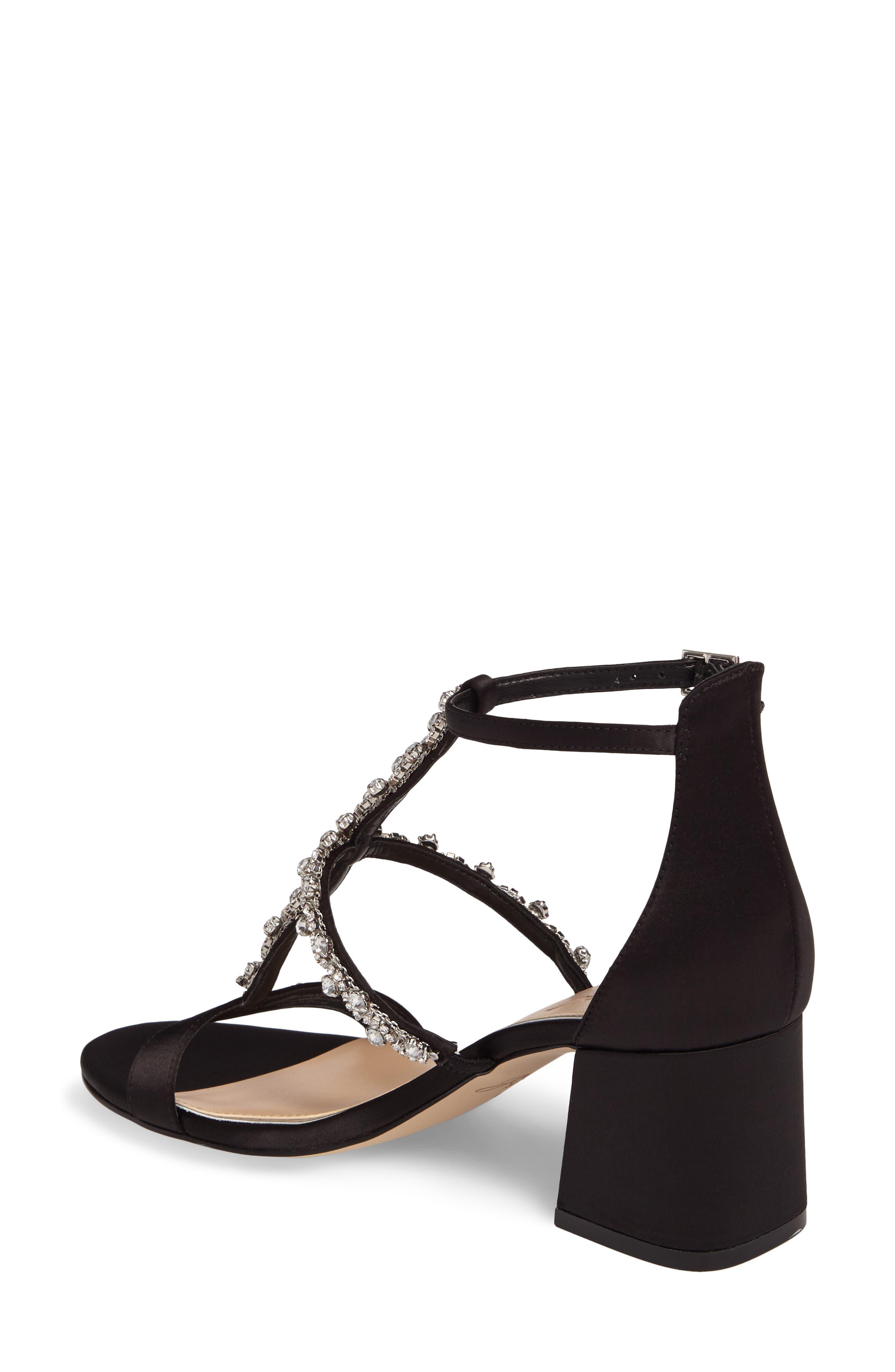 Alternate Image 2  - Jewel Badgley Mischka Alamea Block Heel Sandal (Women)