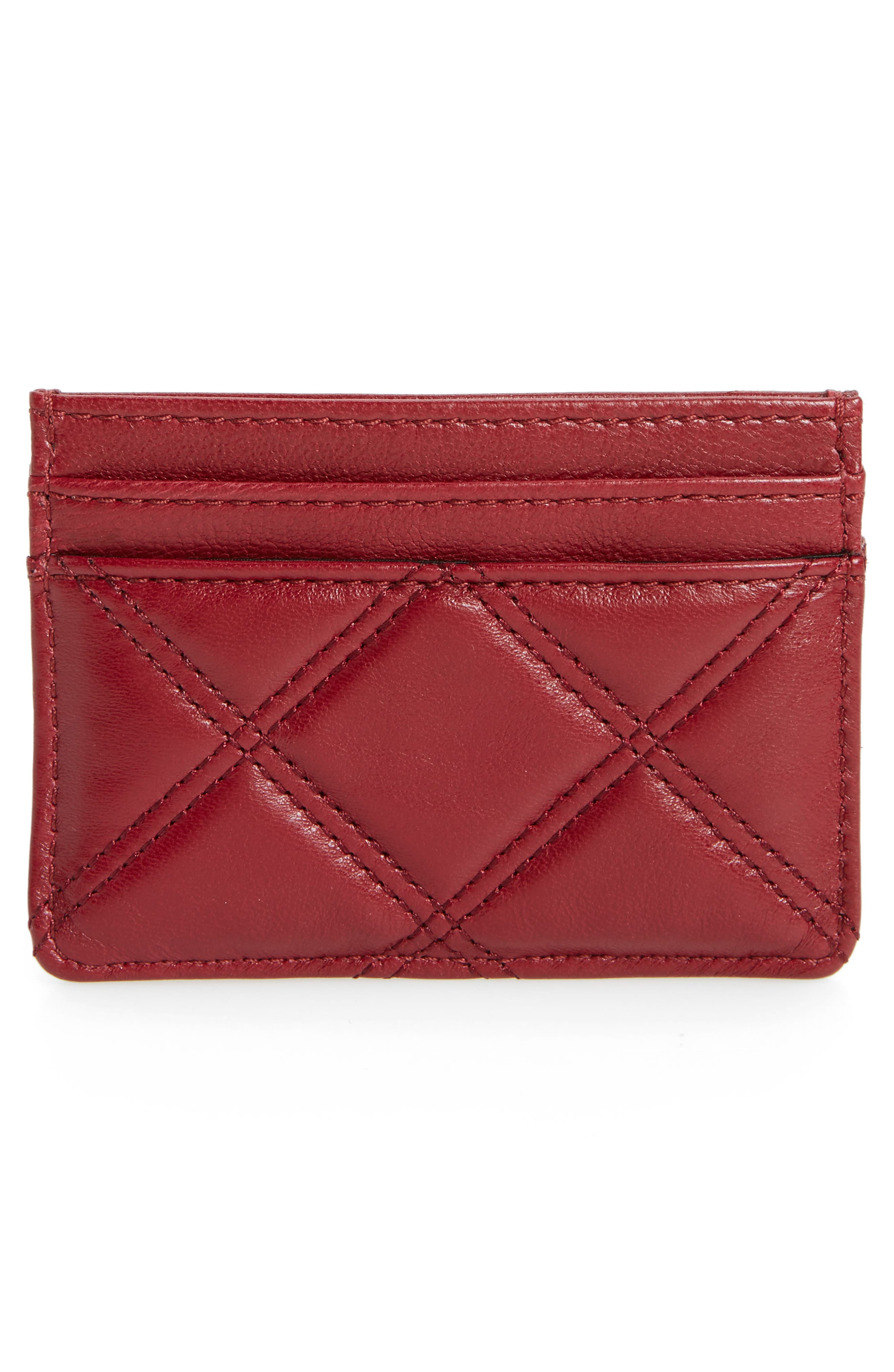 Alternate Image 2  - MARC JACOBS Quilted Leather Card Case