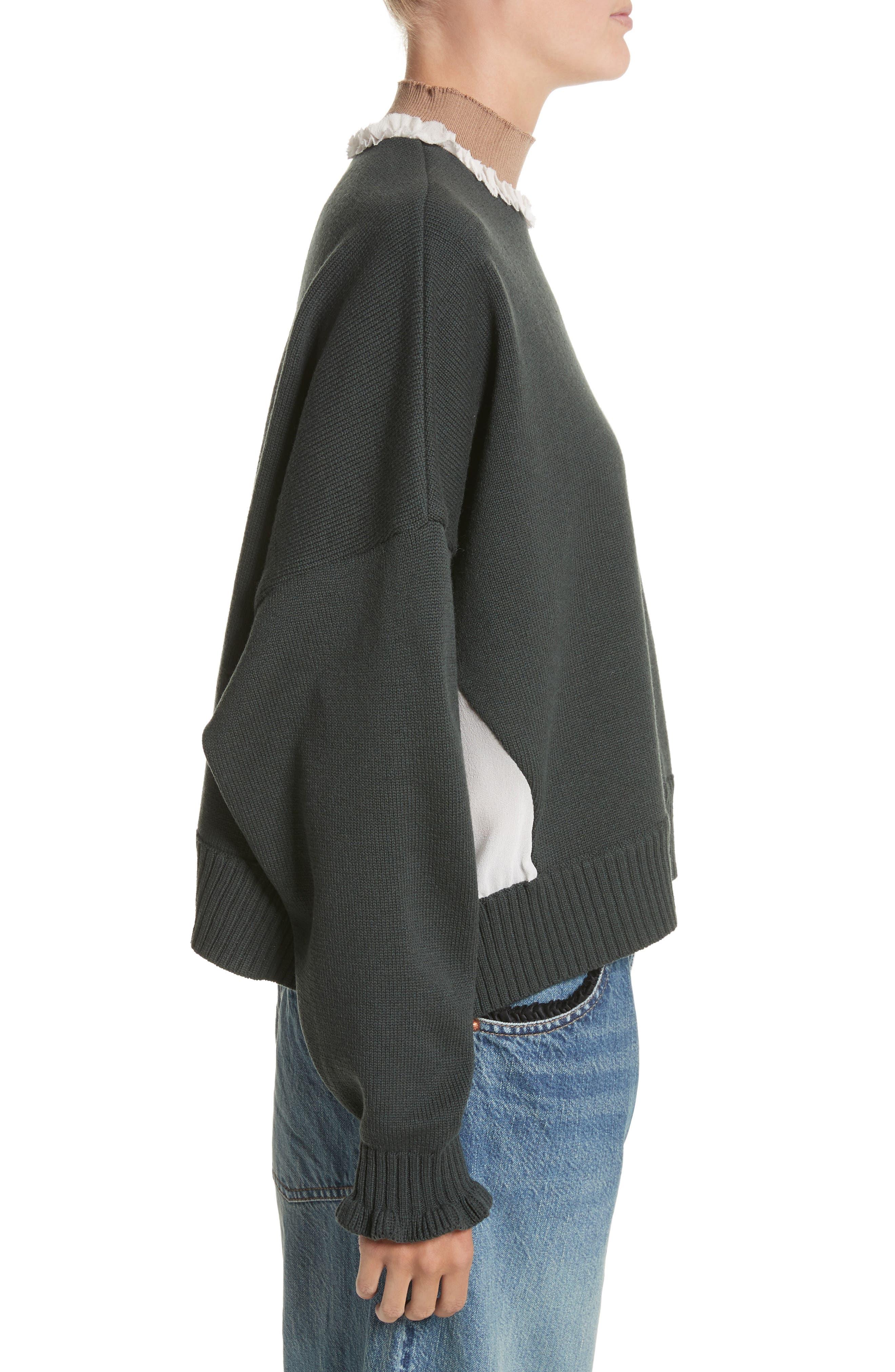 Alternate Image 3  - Undercover Ruffled Mock Neck Sweater